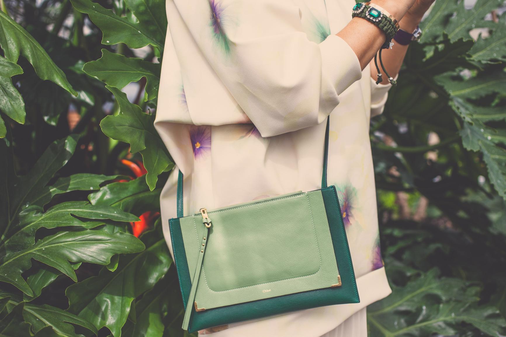 mademoiselle jules greenhouse chloe purse green bag fashion trend blog