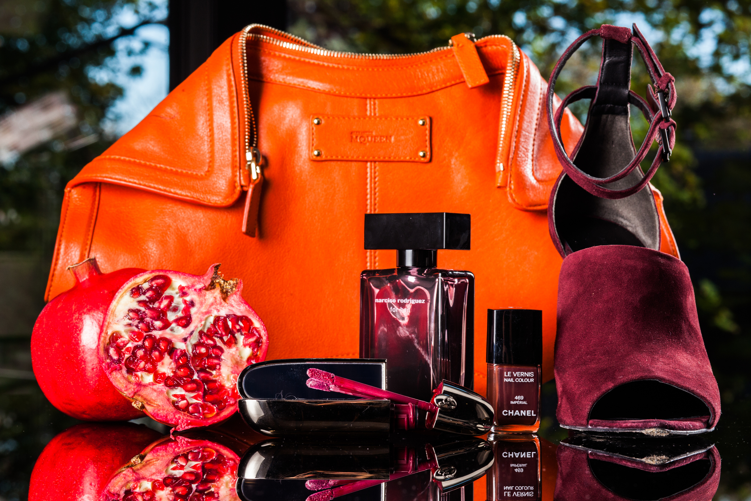 mademoiselle jules mlle alexander mc queen purse orange bag alexander wang sandals