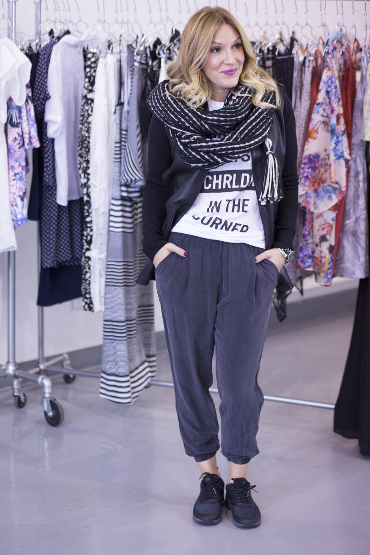 mademoiselle jules lifestylevideos leather blazer bailey44 show & tell fashion