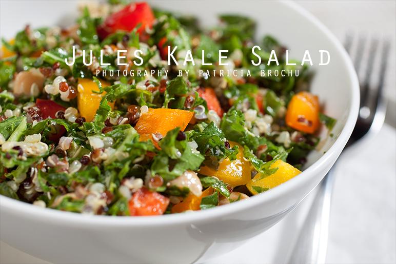 mademoiselle jules kale quinoa chickpeas healthy salad mlle jules food recipe