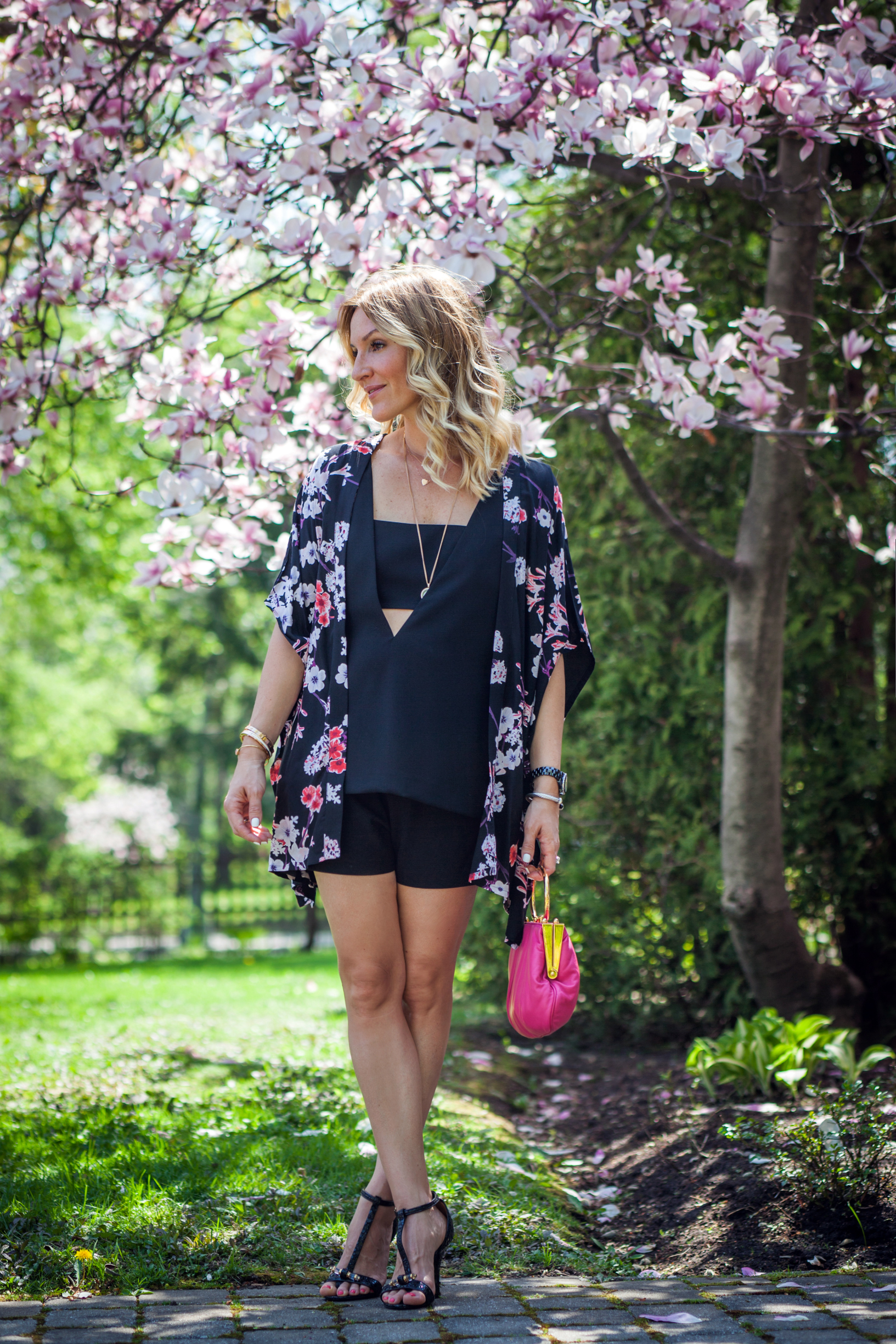 spring fashion post magnolia tree mademoiselle jules mlle