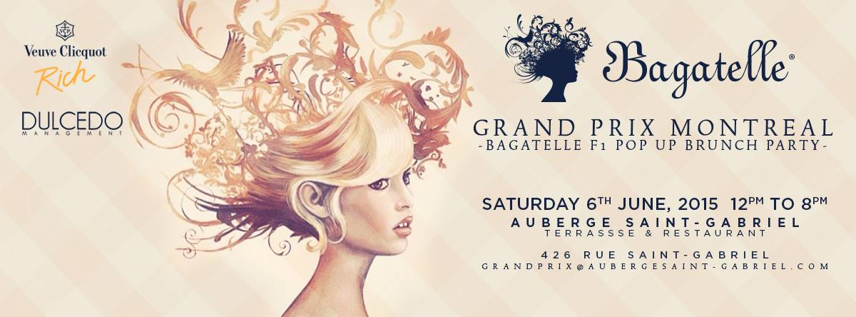 bagatelle F1 brunch auberge st-gabriel grand prix weekend