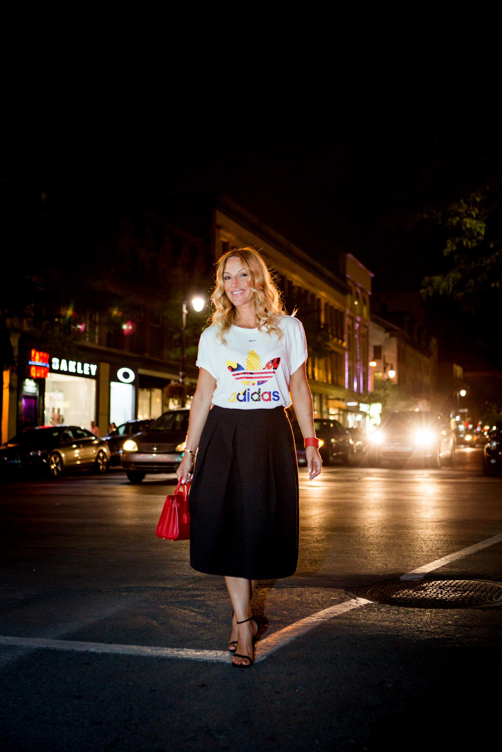 mademoiselle jules blogger montreal canada fashion adidas