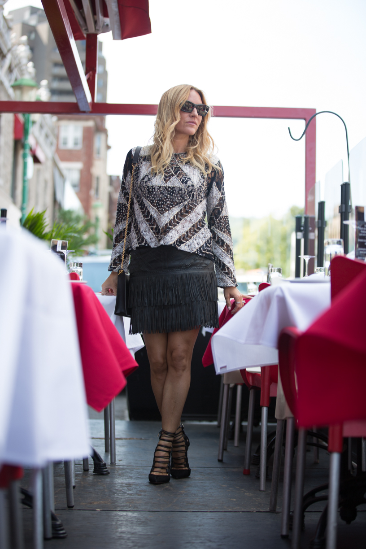 fringe leather skirt from Billie boutique on mademoiselle jules