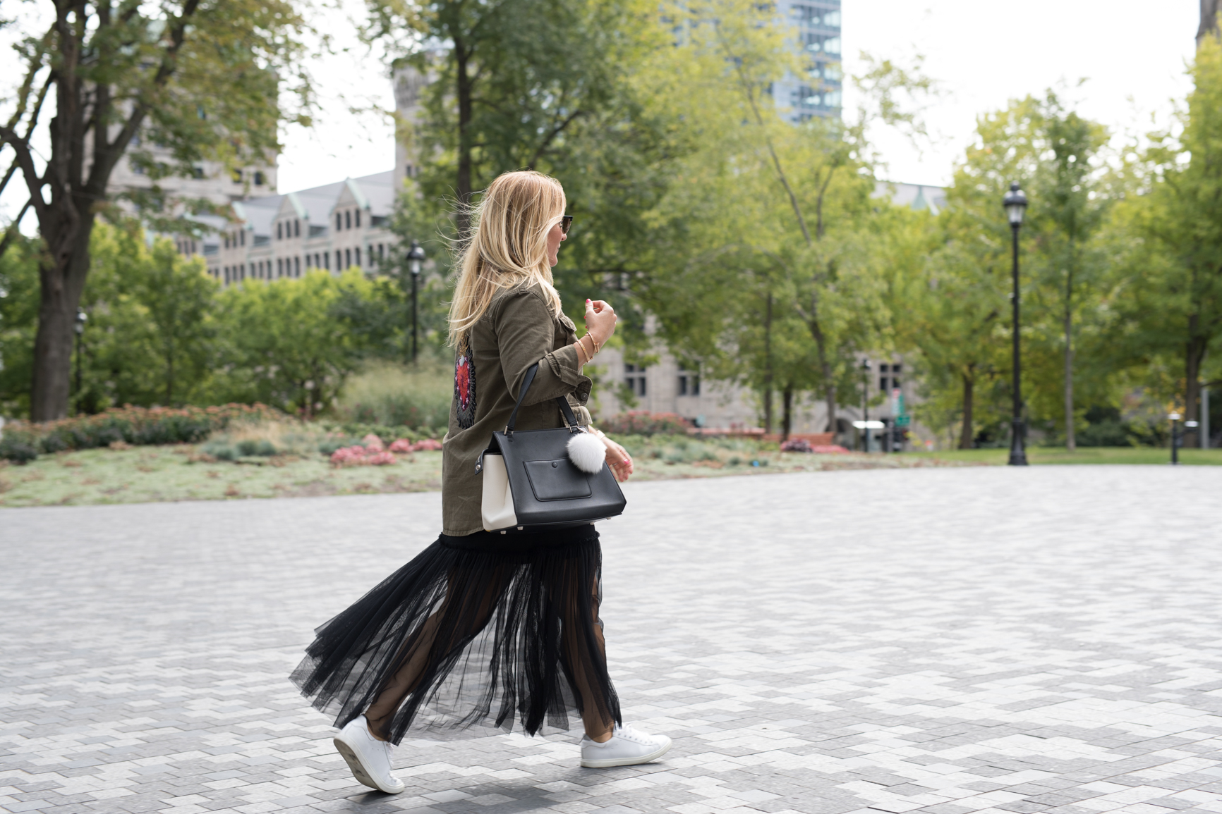 top trends fashion styling tips for fall winter by blogger mlle jules mademoiselle tule skirt sneakers