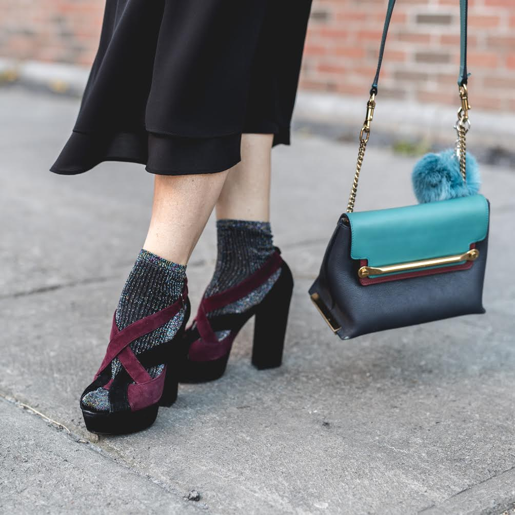 top trends fashion styling tips for fall winter by blogger mlle jules mademoiselle accessories socks sandals pompom