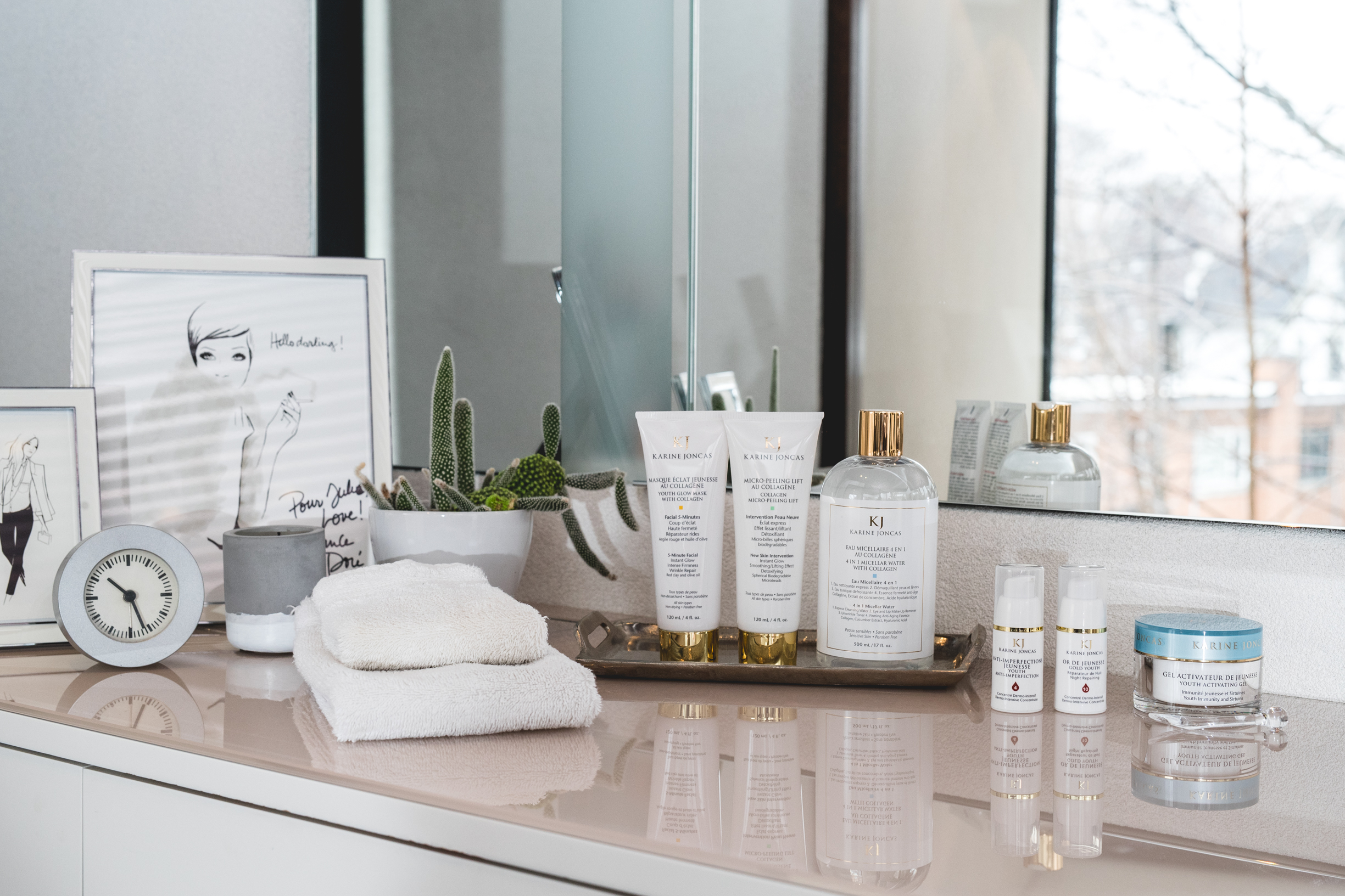 skin care routine with karine joncas cosmetics by beauty blogger mademoiselle jules blog