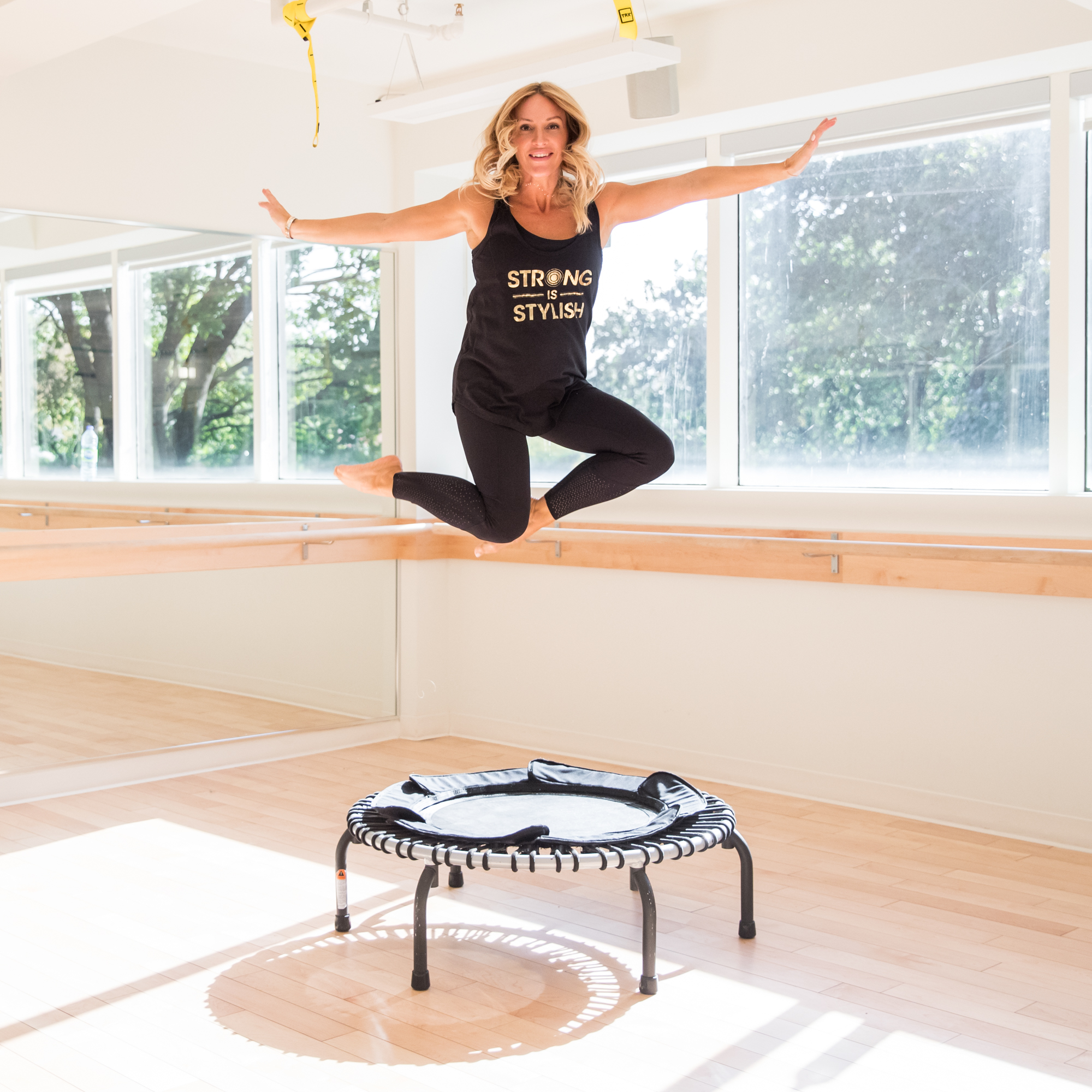 bounce cardio jump trampoline class at vic park with blogger mademoiselle jules