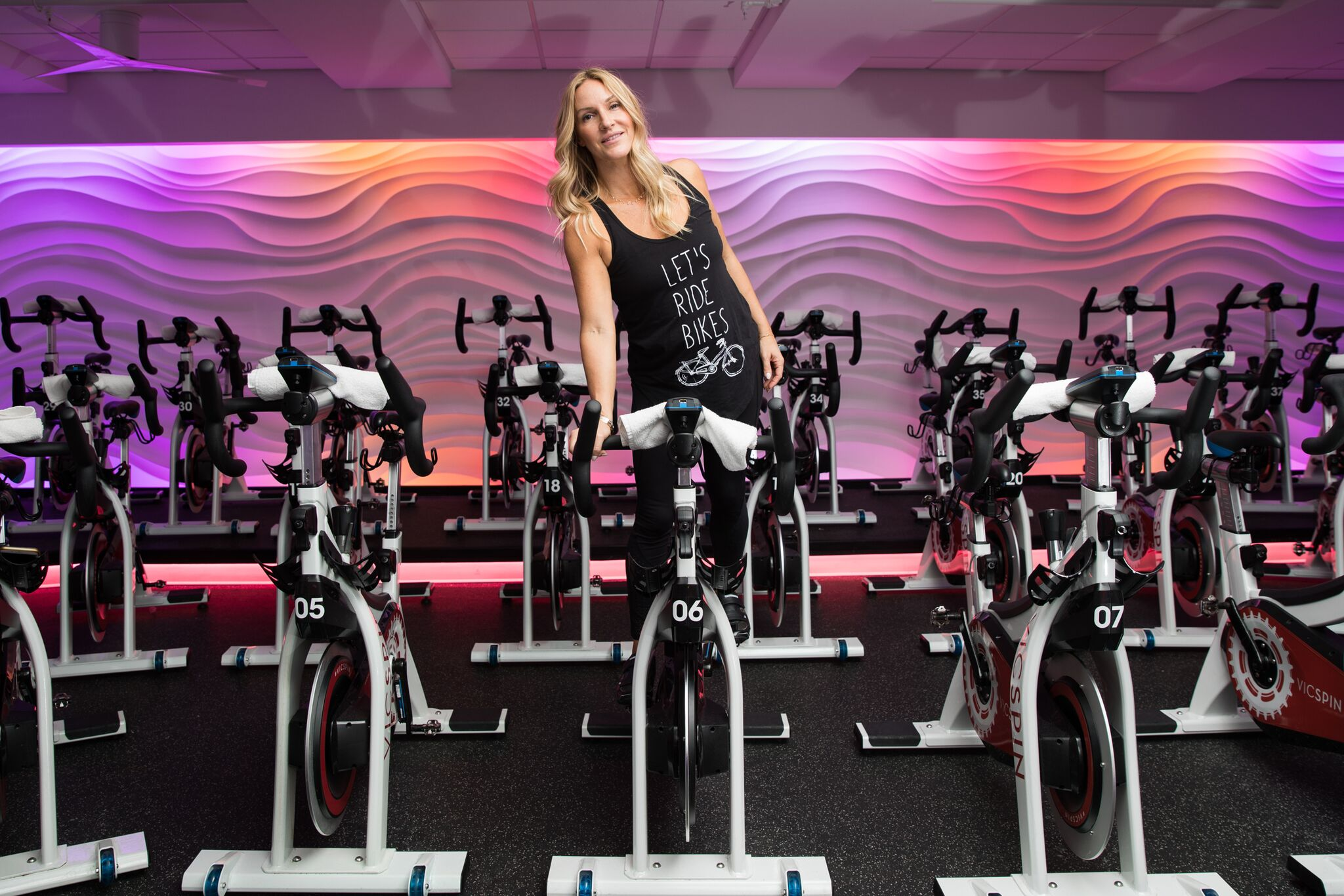 mademoiselle jules spinning at victoria park gym