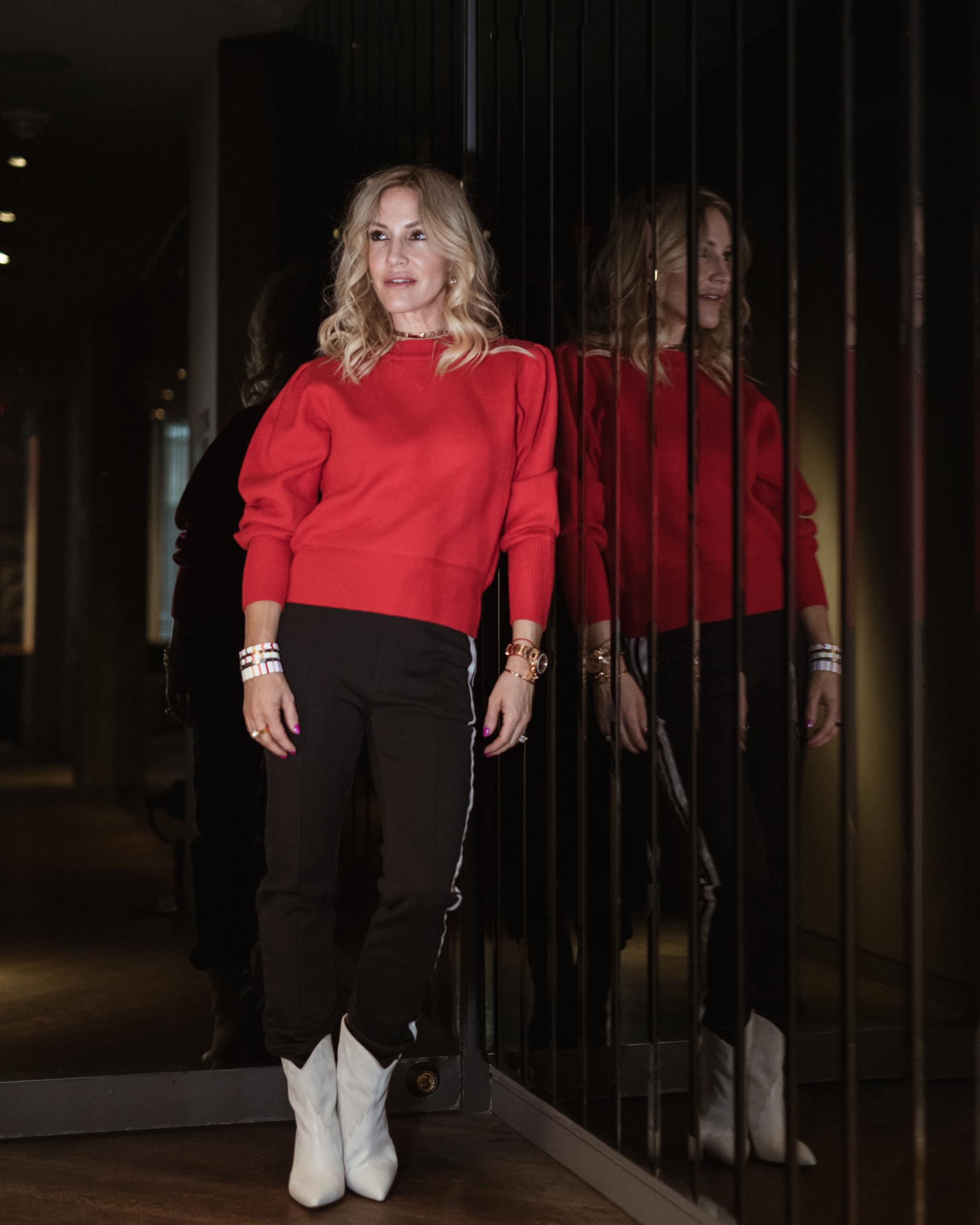 sweater:  Isabel Marant  - track pant: Adidas x Y3 ( similar )
