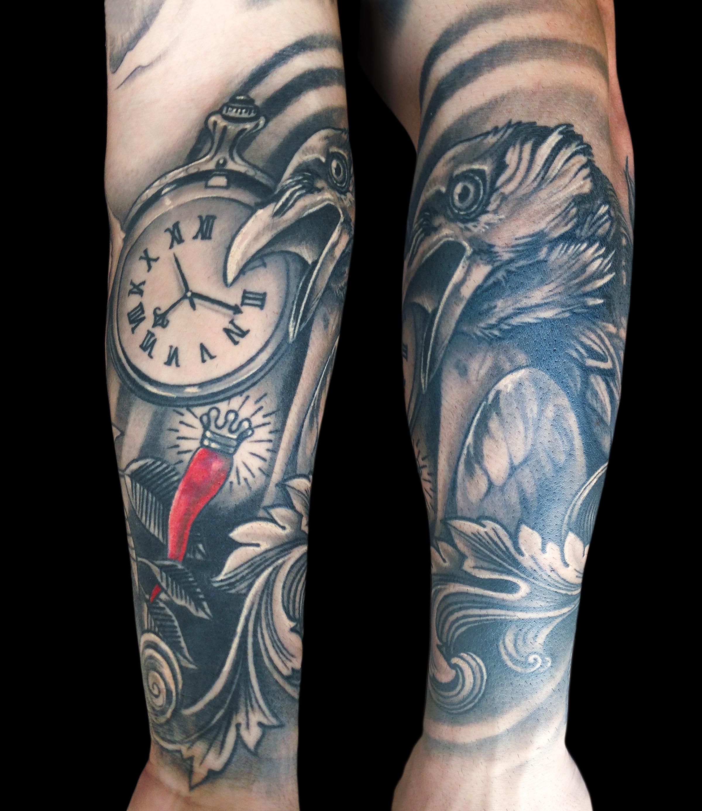 crow rose clock n horn.jpg