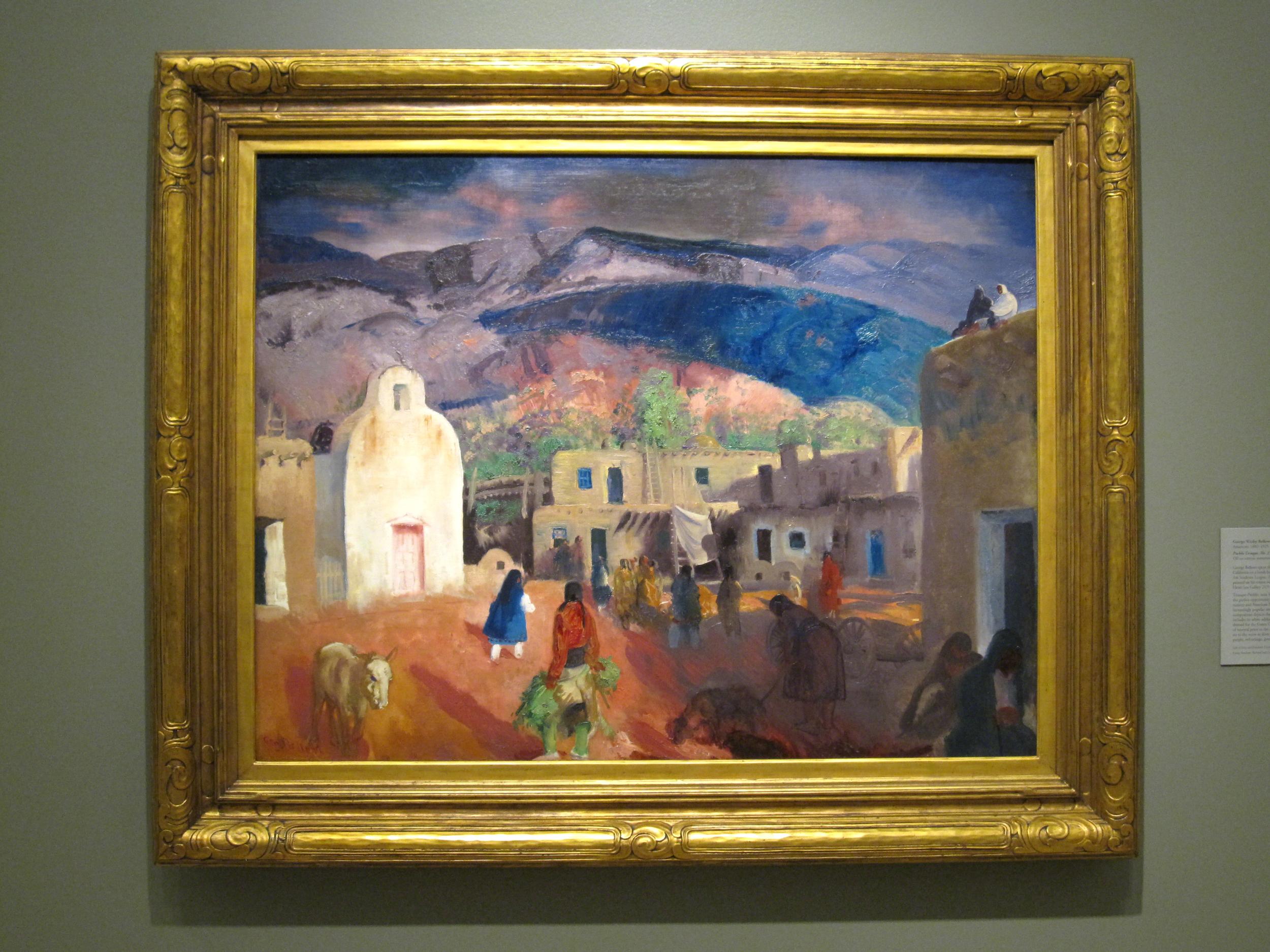 Tesuque Number One Pueblo c.1917- George Bellows- American Western Art Canvas