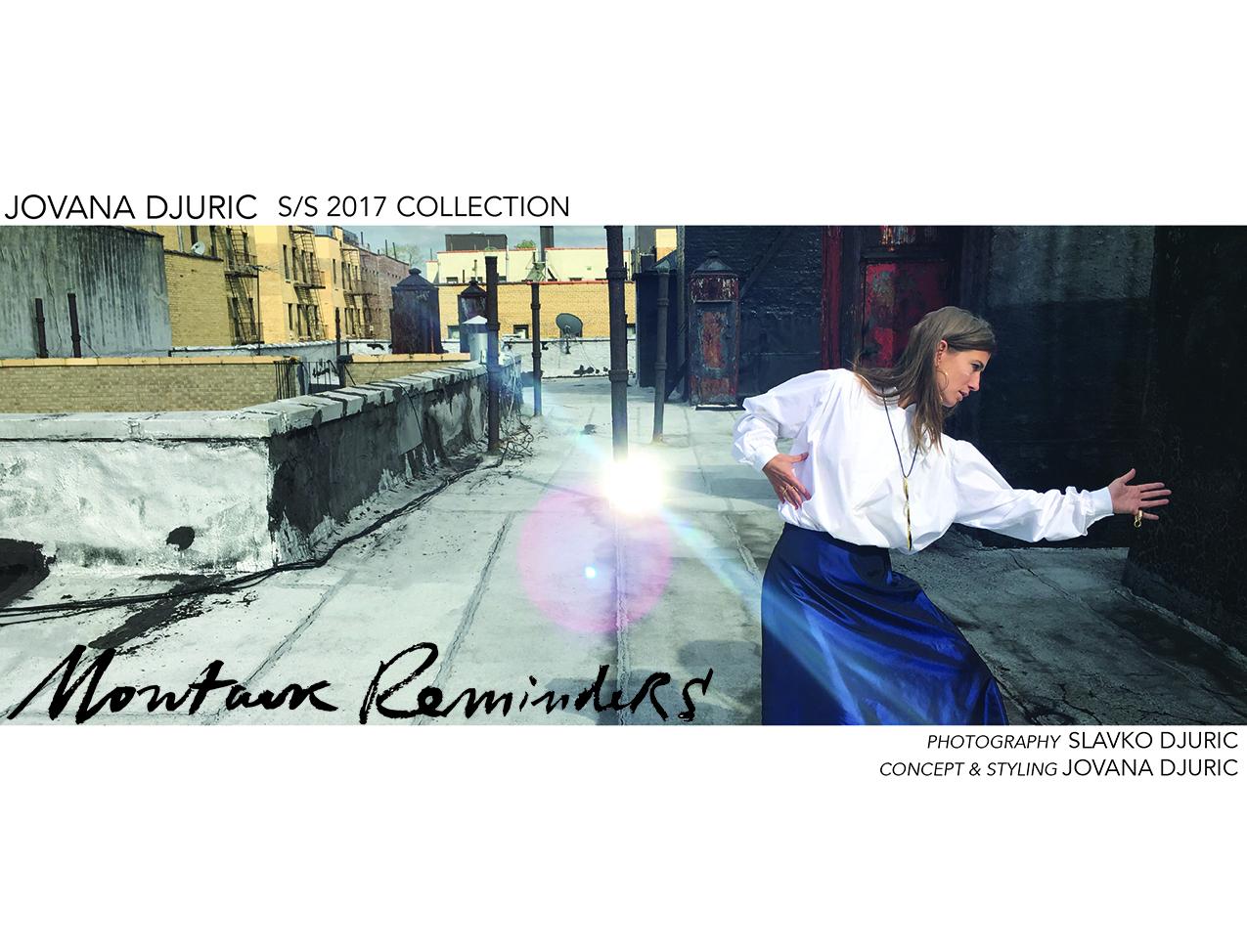 JOVANA DJURIC SS17 LOOKBOOK, MONTAUK REMINDERS