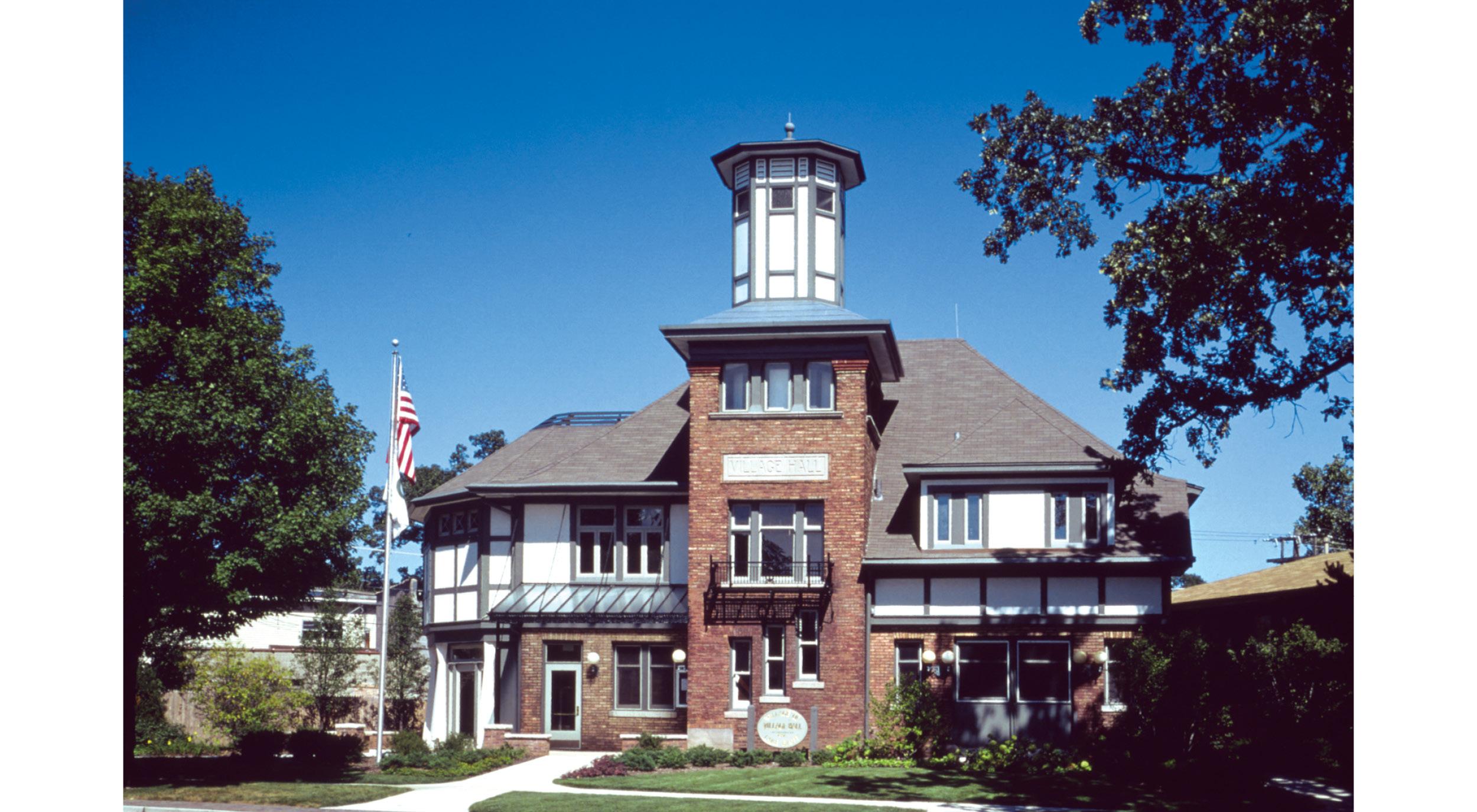 Lake Bluff Village Hall . Woodhouse Tinucci Architects