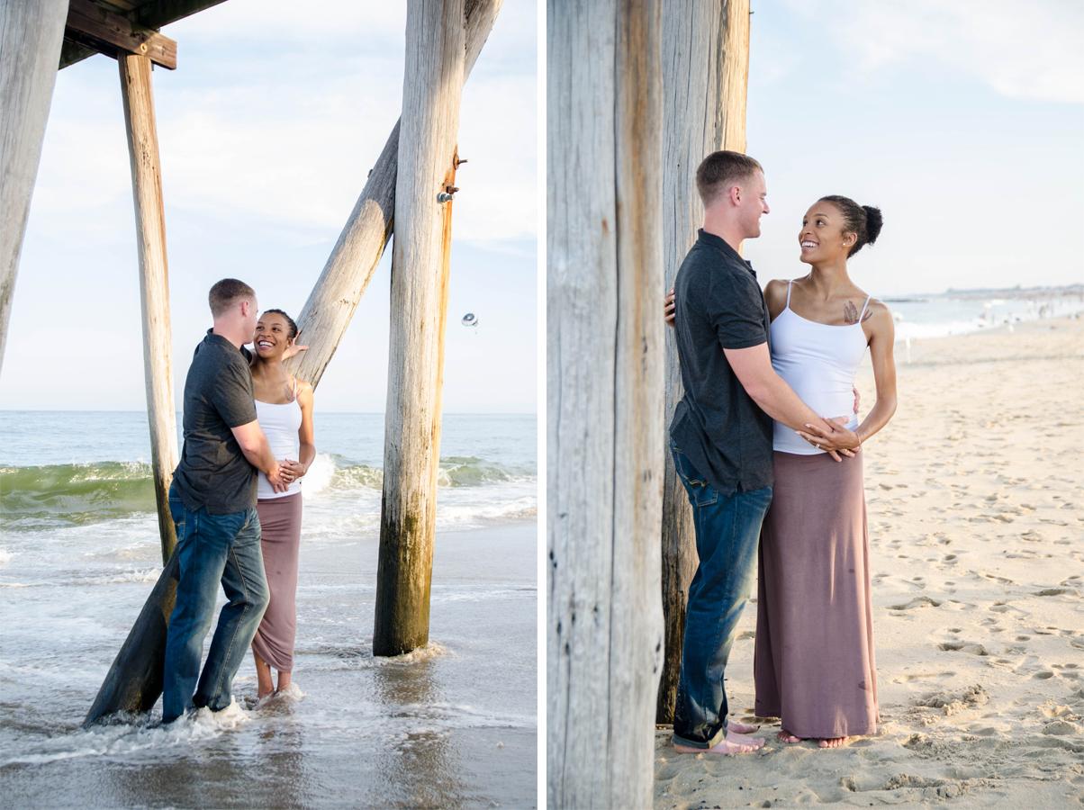 Josh+Ashlee | Beach Sunset Maternity | Avon New Jersey | Olivia Christina Photography 7.jpg