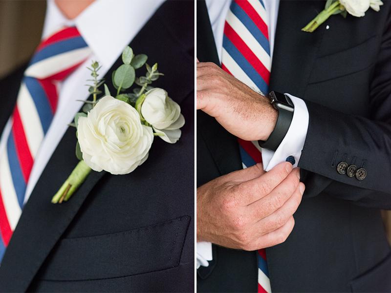 Maggie+Bobby- Boutonnierre Cufflinks- Nautical Themed Mantoloking Yacht Club Wedding - Olivia Christina Photo.jpg
