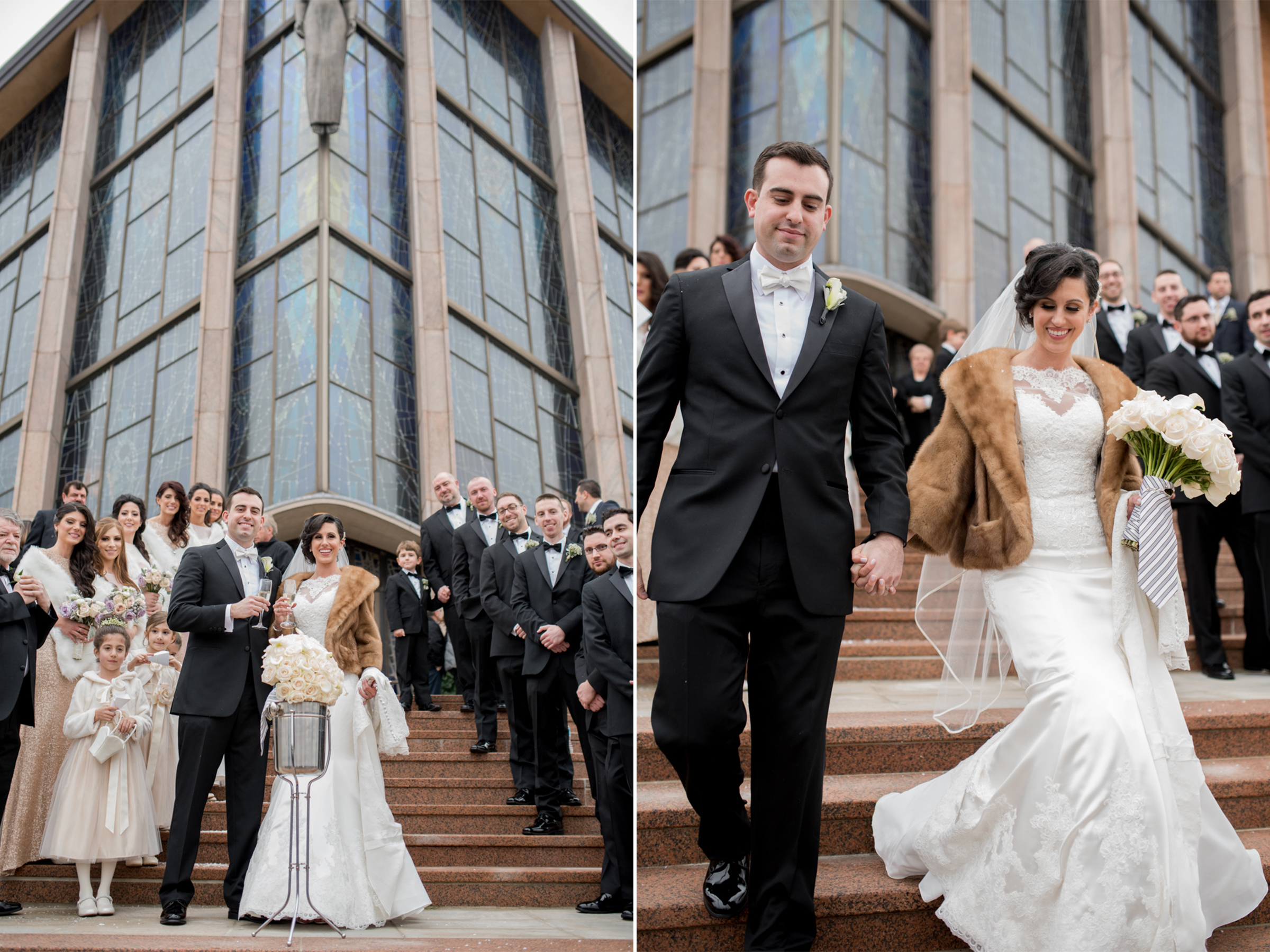 Michelle+Joe- Bride and Groom Leaving Church - Ryland Inn Winter Wedding - New Jersey - Olivia Christina Photo.jpg