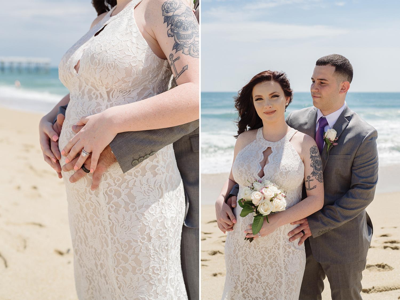 Caitlyn+Anthony- Belmar Beach Elopement- Bride and Groom Maternity Portraits- New Jersey Weddings- Olivia Christina Photo.jpg