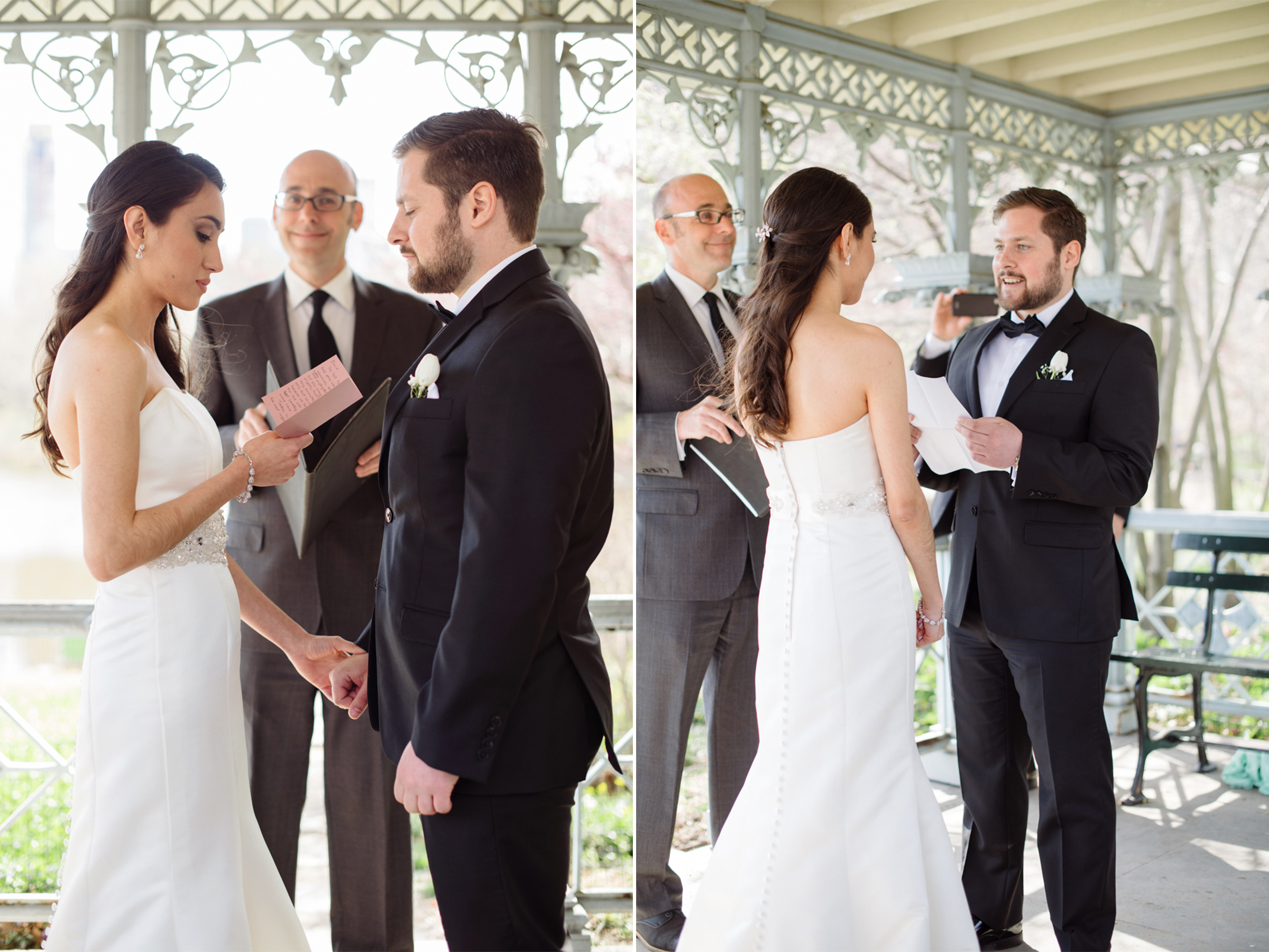 Anahi+David- Central Park Elopement Reciting Vows- New York City- Olivia Christina Photo.jpg