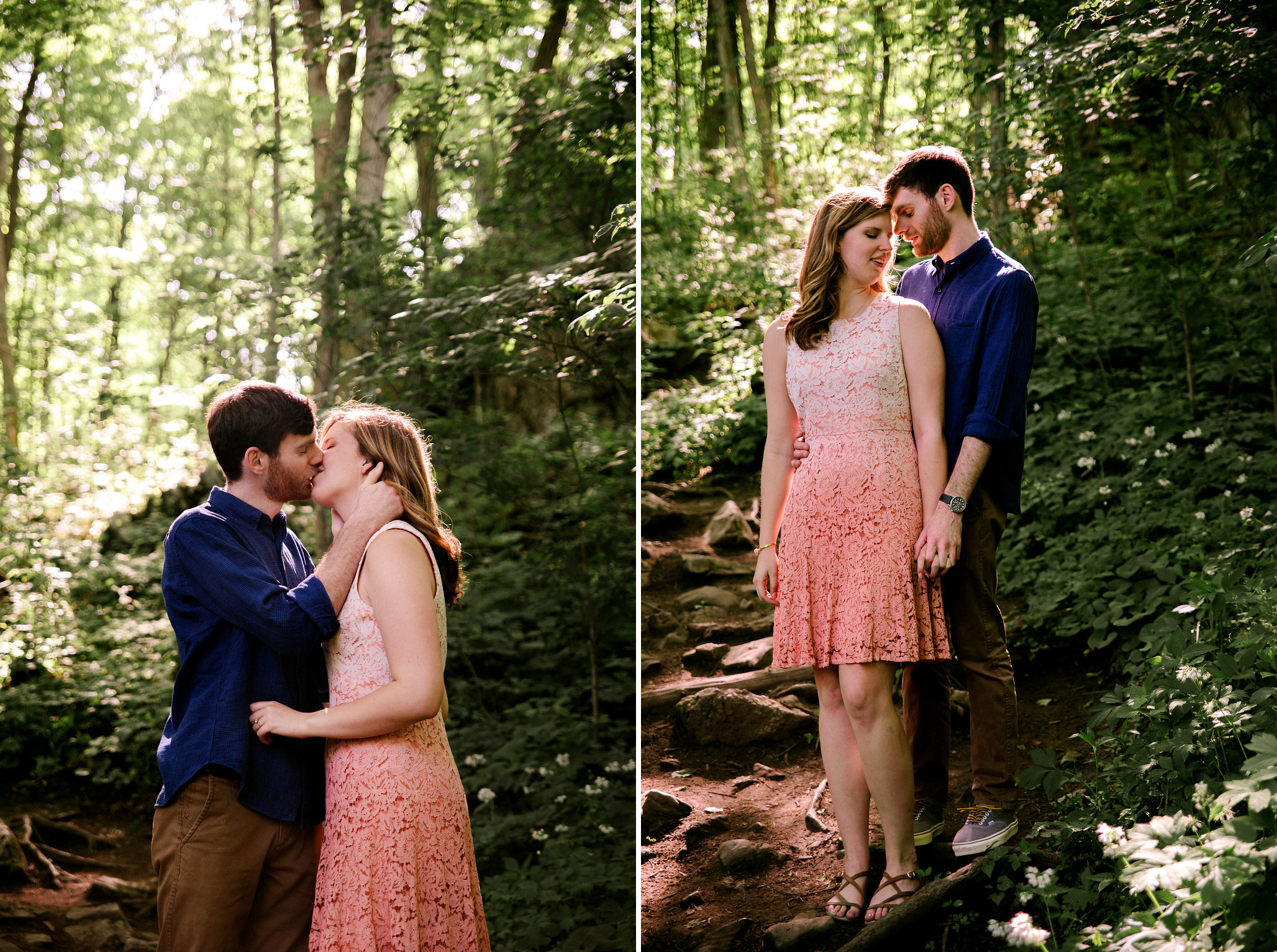 Chelsea+James- Appalachian Trail Engagement Session- Forest Sunlight- New Jersey-Olivia Christina Photo.jpg