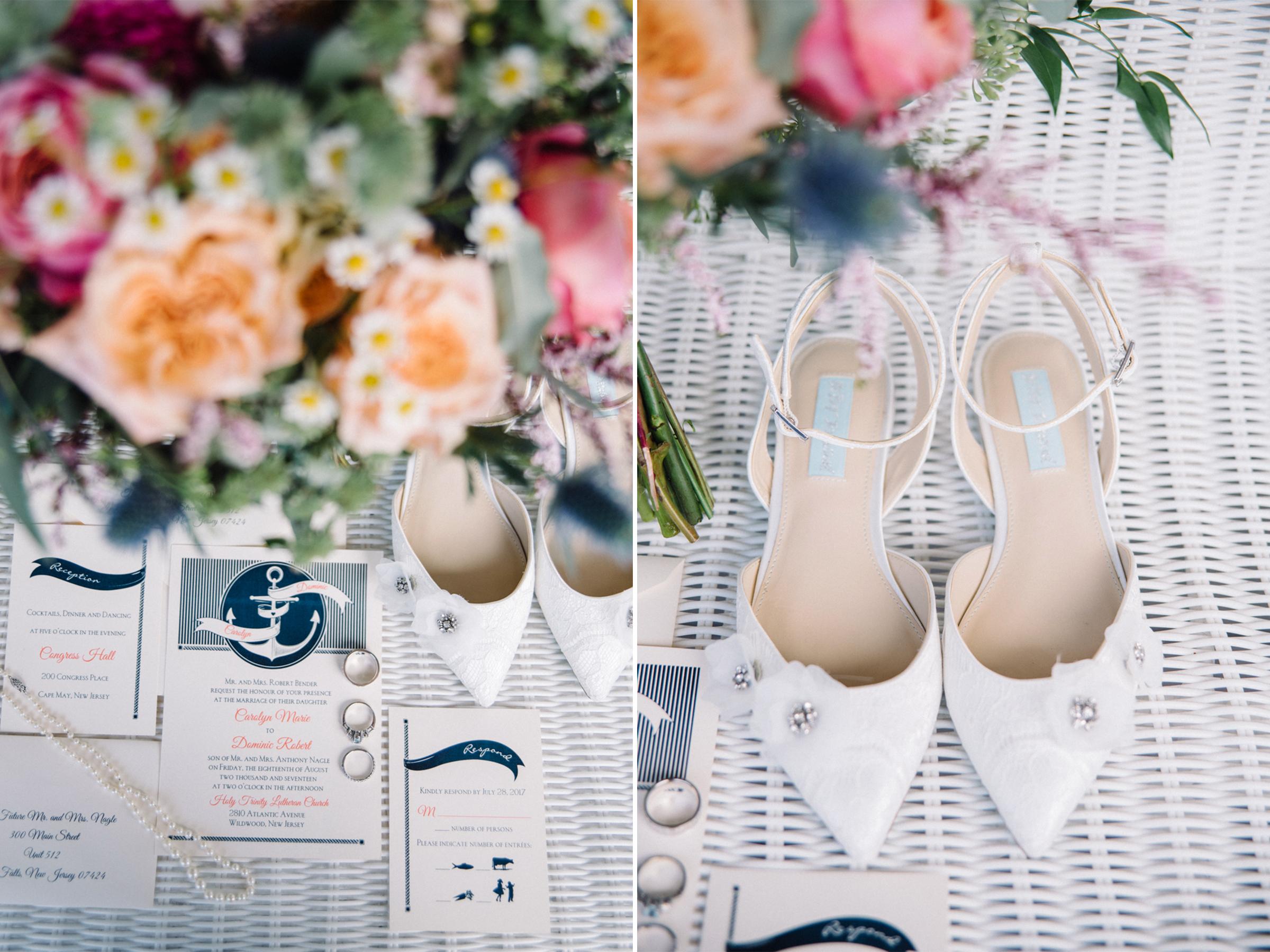 Carolyn+Dominic-Flowers Rings Shoes Invitations-Congress Hall Wedding- Cape May New Jersey- Olivia Christina Photo-1.JPG