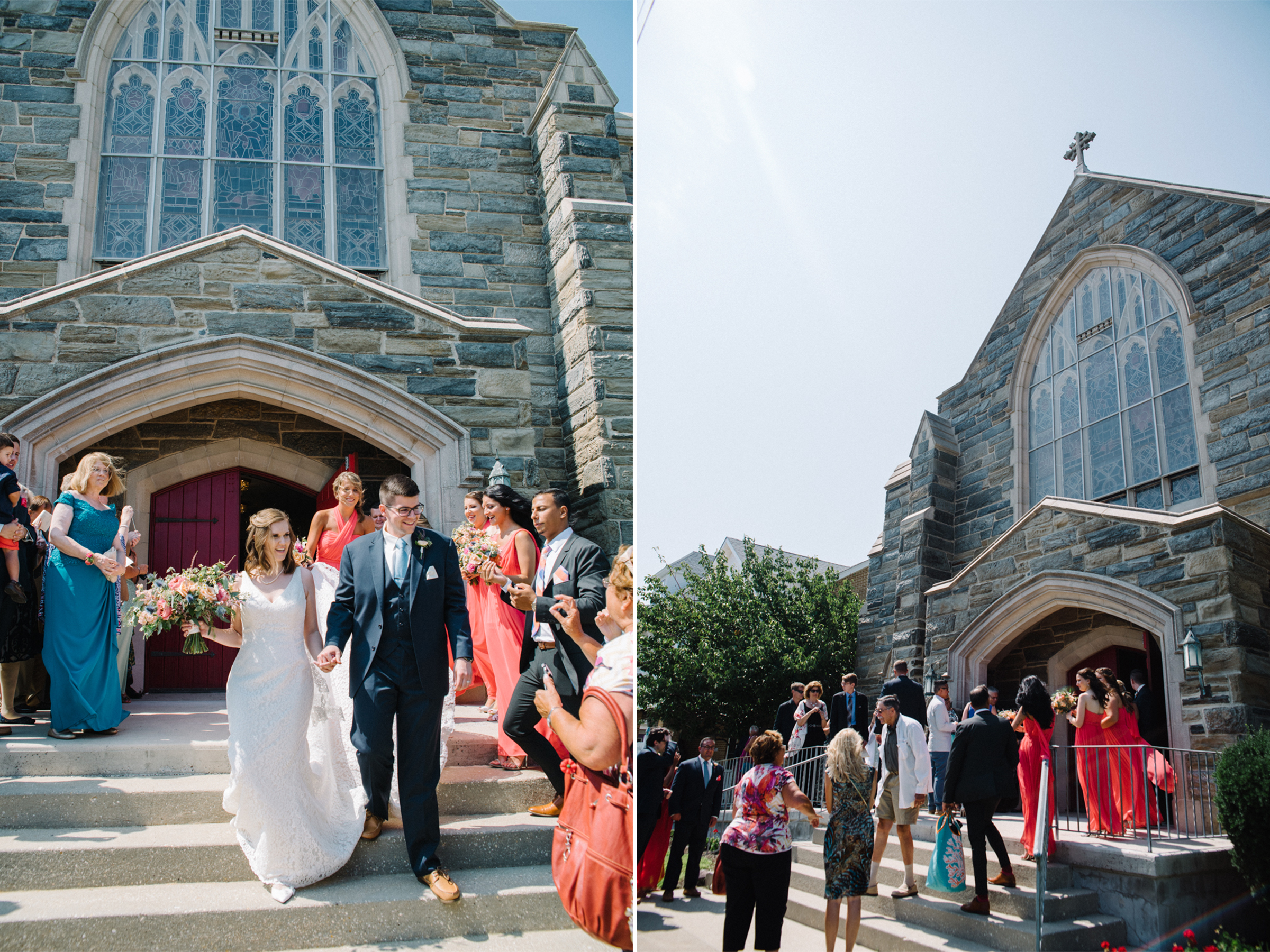 Carolyn+Dominic-Bride and Groom Exit Church- Mr and Mrs- Congress Hall Wedding- Cape May New Jersey- Olivia Christina Photo-1-2.JPG