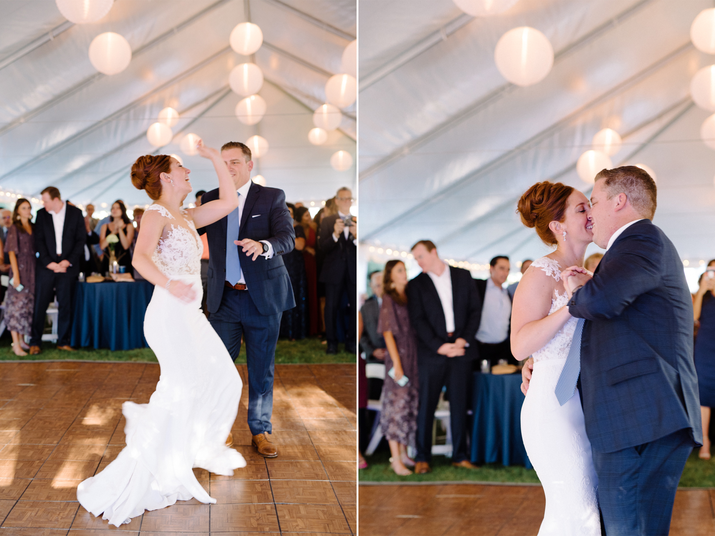 Lauren+AJ- Bride and Groom First Dance Tent Wedding- DIY Backyard Wedding- New Jersey- Olivia Christina Photo.jpg