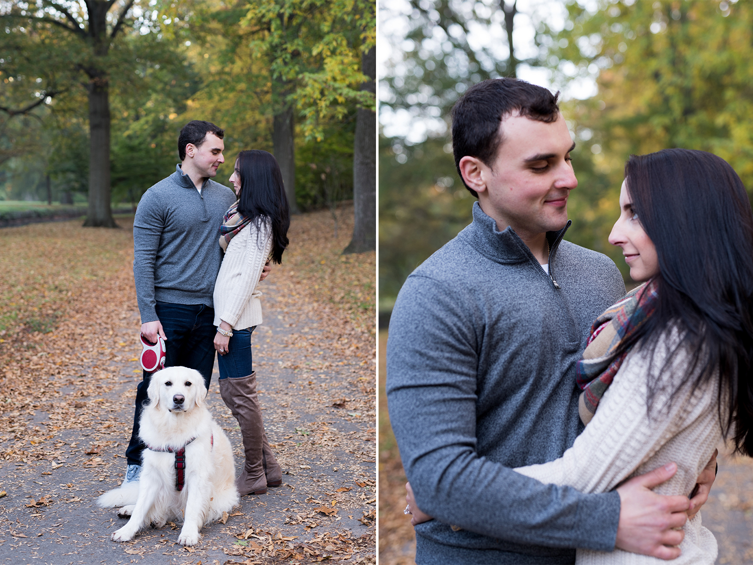 Melissa+Jeff- Local Park Engagement Session with Dog- Booth Park Nutley- New Jersey-Olivia Christina Photo 1.jpg