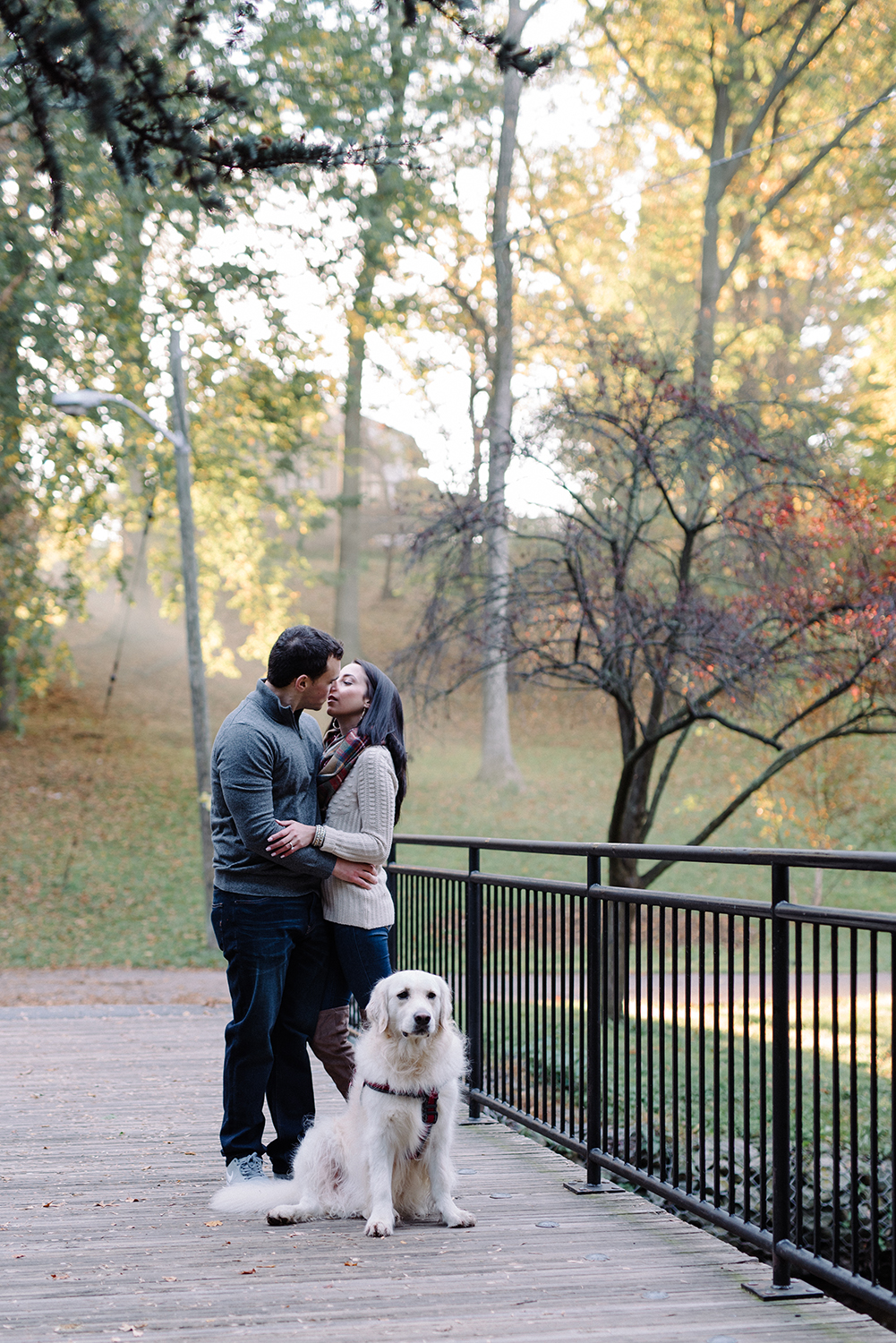 Melissa+Jeff- Local Park Engagement Session with Dog- Booth Park Nutley- New Jersey-Olivia Christina Photo-26.jpg