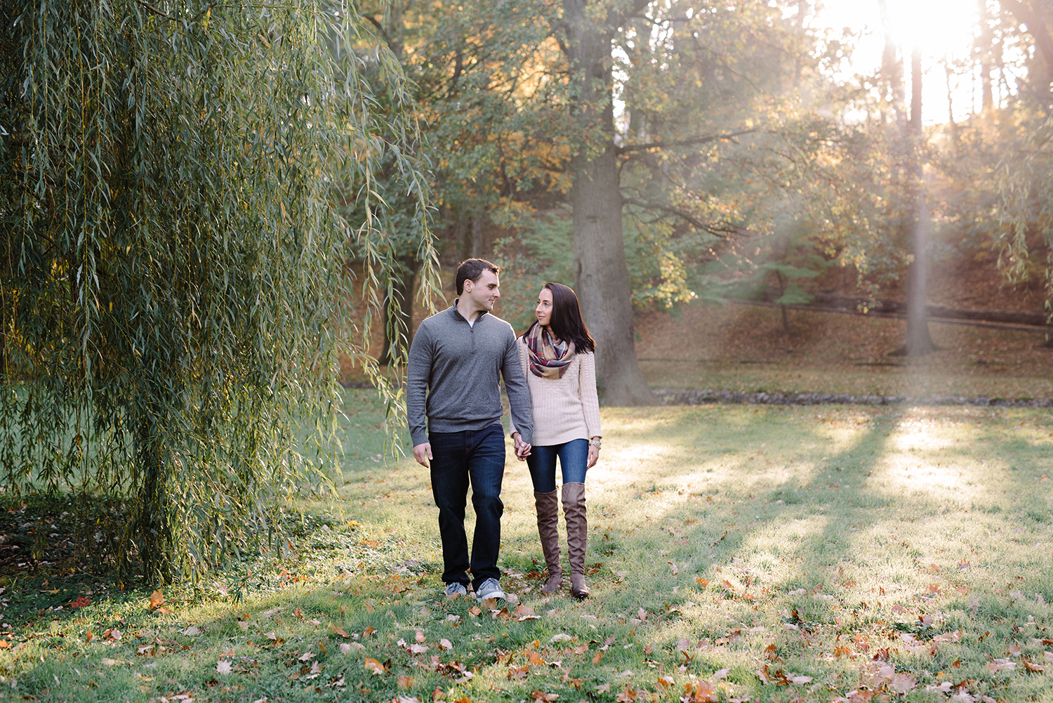 Melissa+Jeff- Local Park Engagement Session with Dog- Booth Park Nutley- New Jersey-Olivia Christina Photo-41.jpg