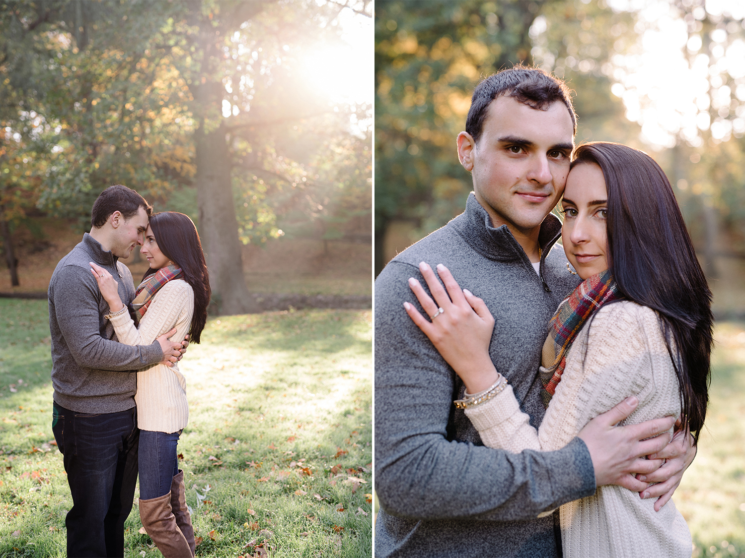 Melissa+Jeff- Local Park Engagement Session with Dog- Booth Park Nutley- New Jersey-Olivia Christina Photo-6.jpg