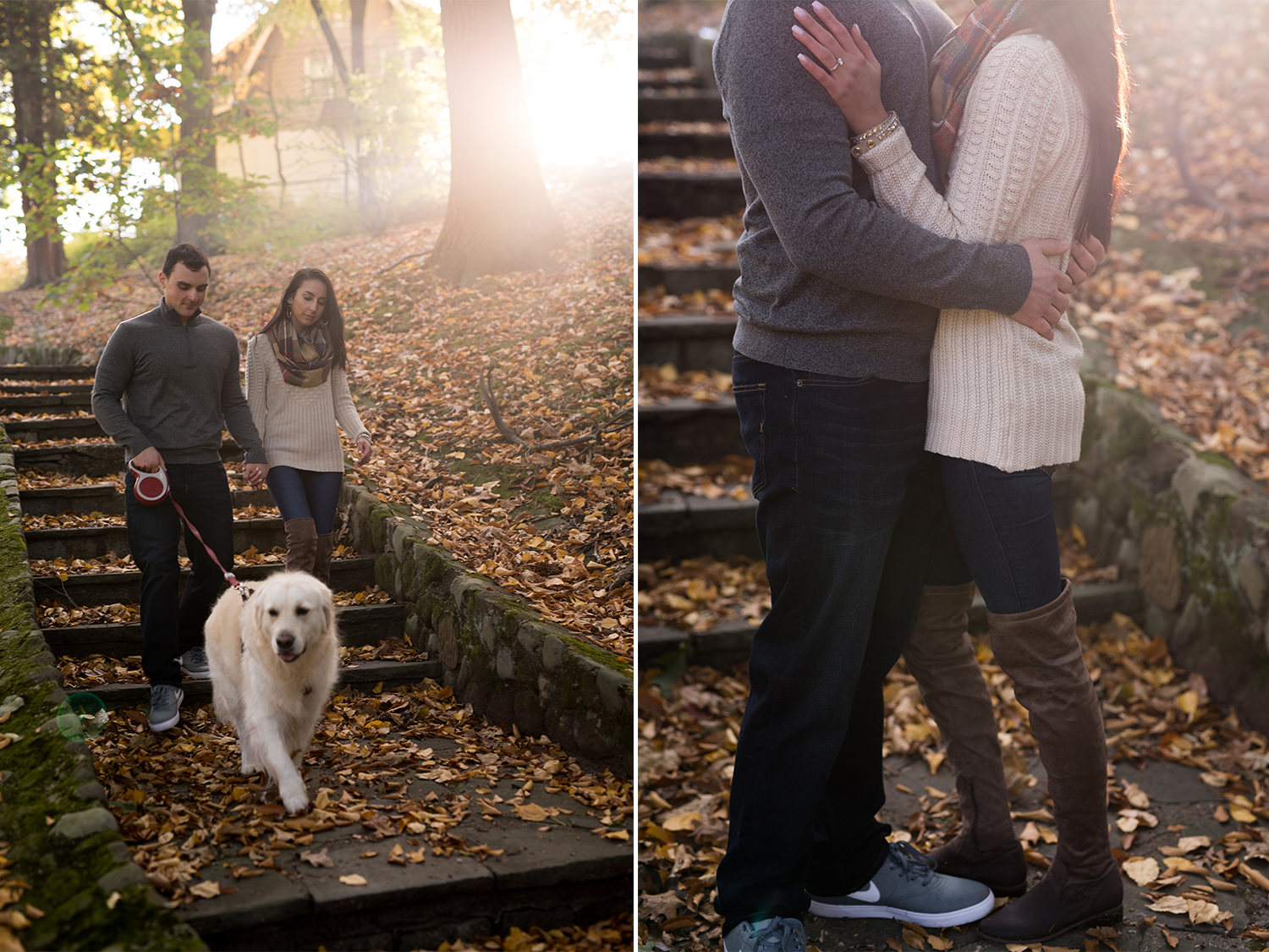 Melissa+Jeff- Local Park Engagement Session with Dog- Booth Park Nutley- New Jersey-Olivia Christina Photo-7.jpg