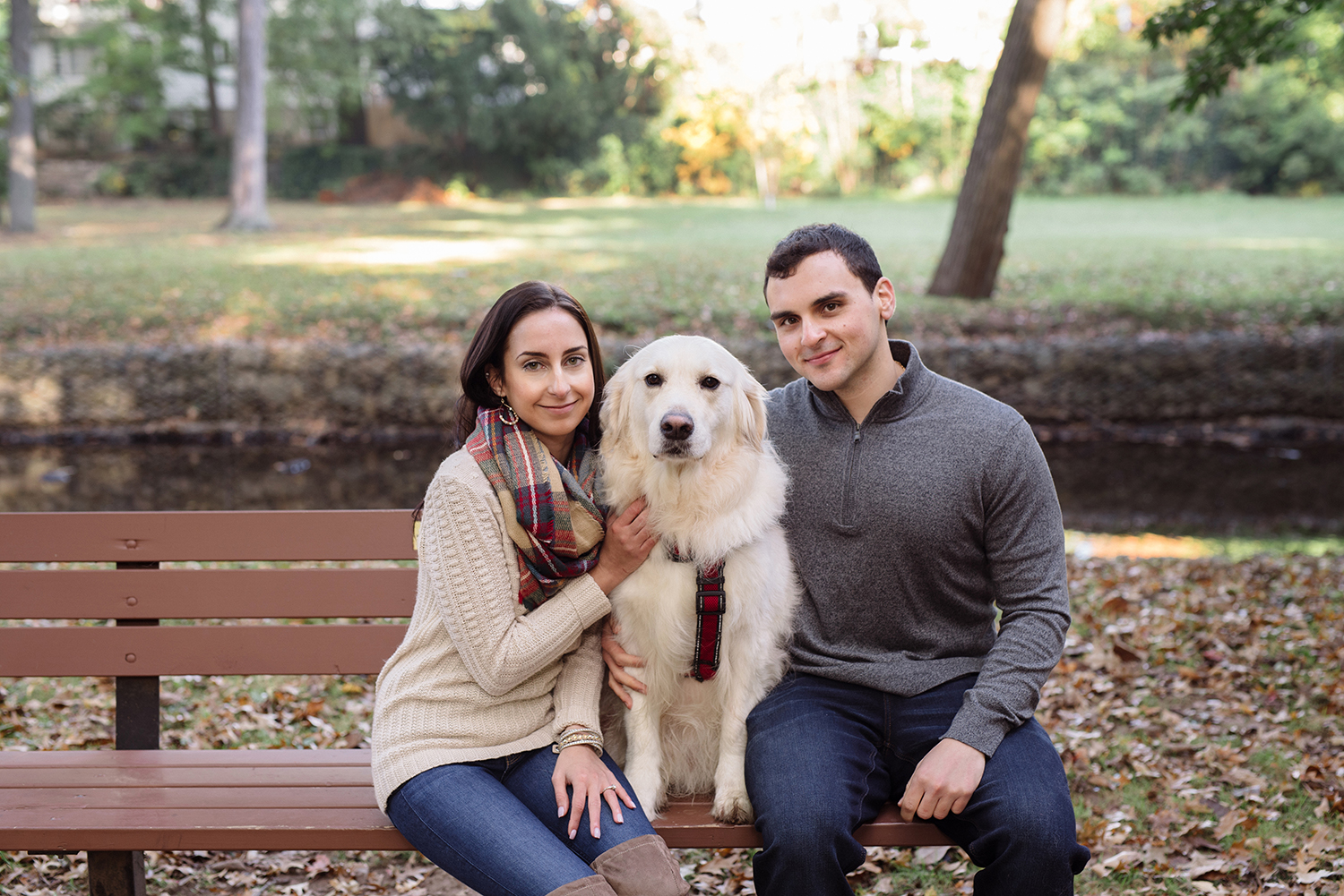 Melissa+Jeff- Local Park Engagement Session with Dog- Booth Park Nutley- New Jersey-Olivia Christina Photo-95.jpg