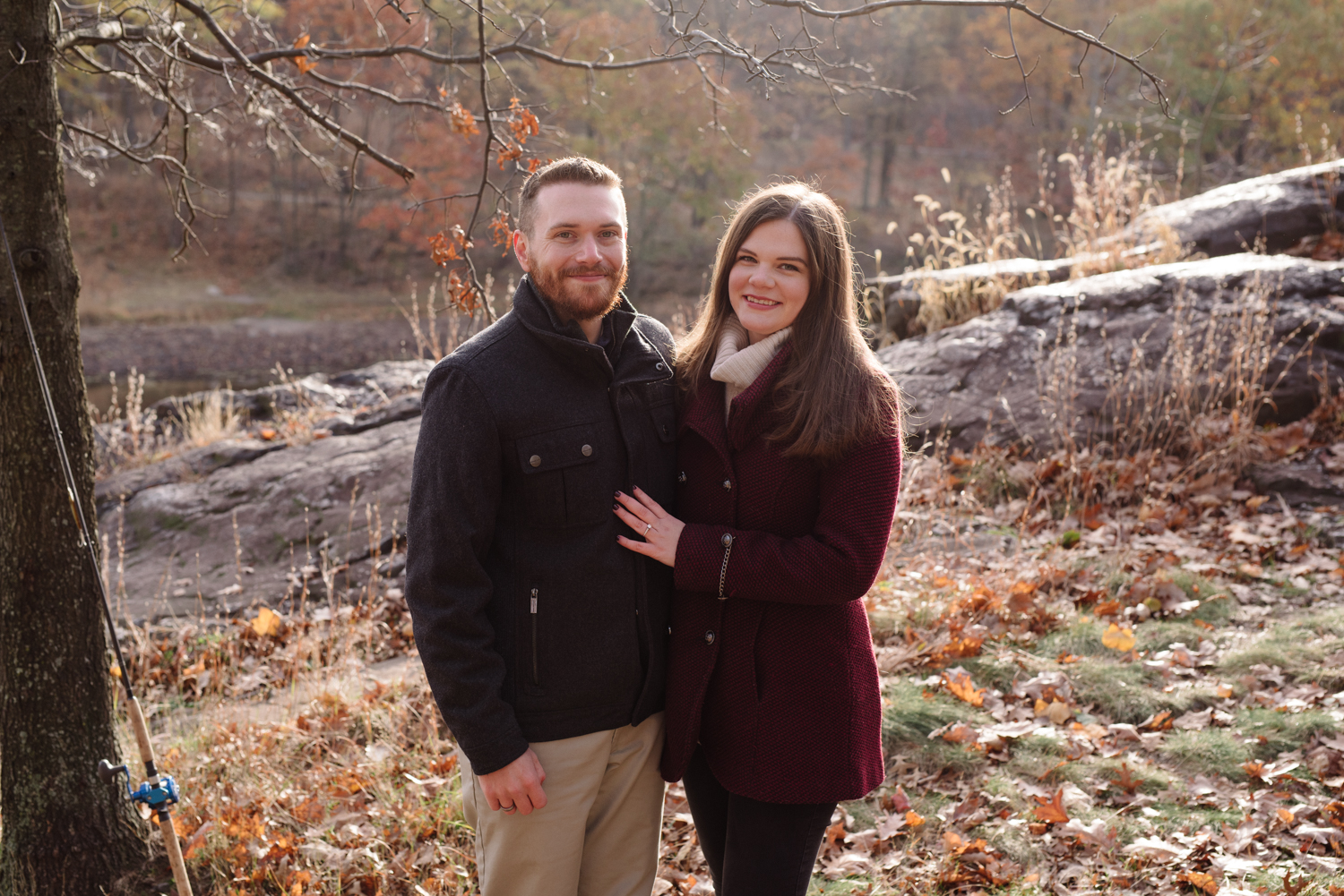 Amy+Brian- Garret Mountain Engagement Session- Fall Nature- Film Photography-New Jersey- Olivia Christina Photo-3.JPG