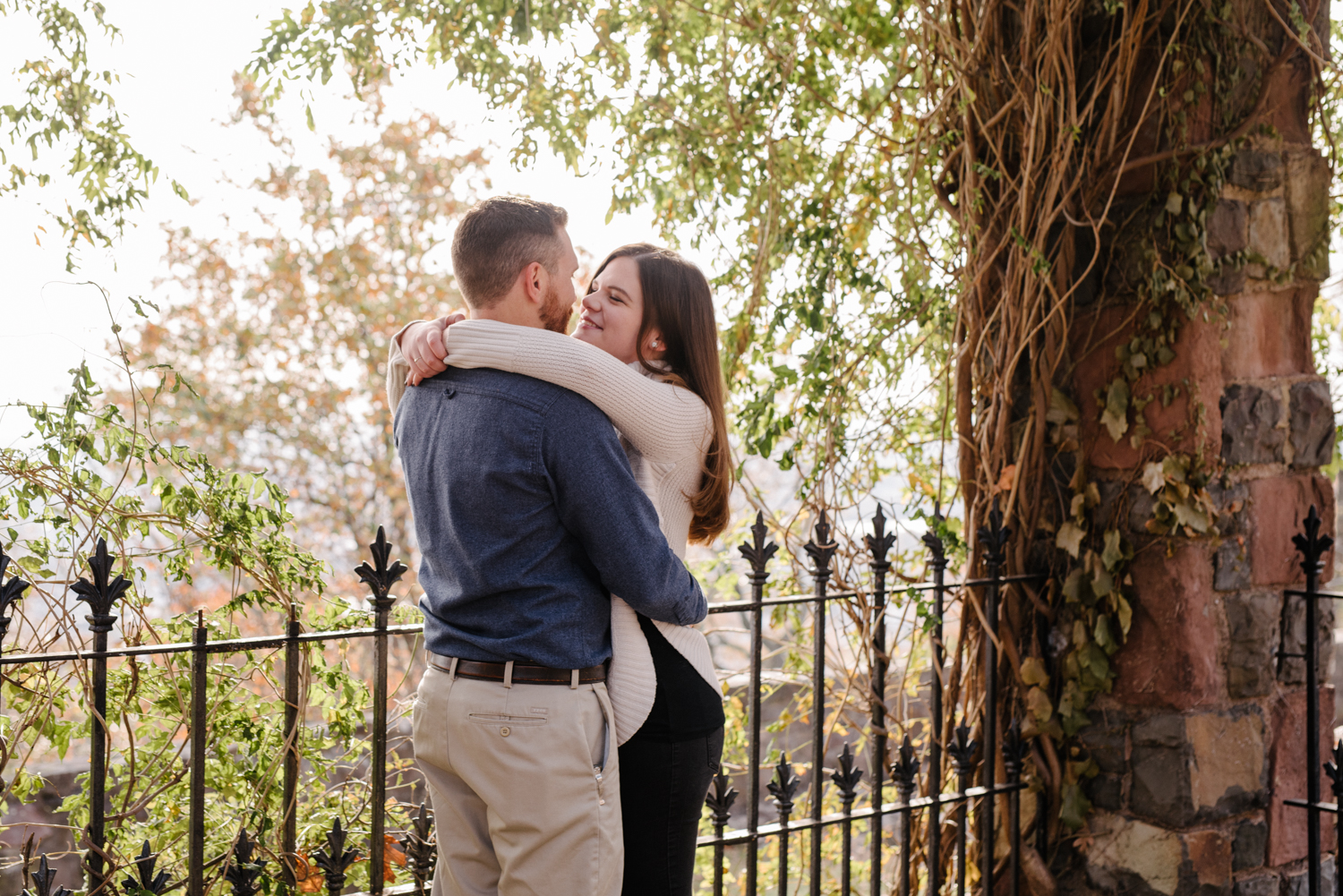 Amy+Brian- Garret Mountain Engagement Session- Fall Nature- Film Photography-New Jersey- Olivia Christina Photo-38.JPG
