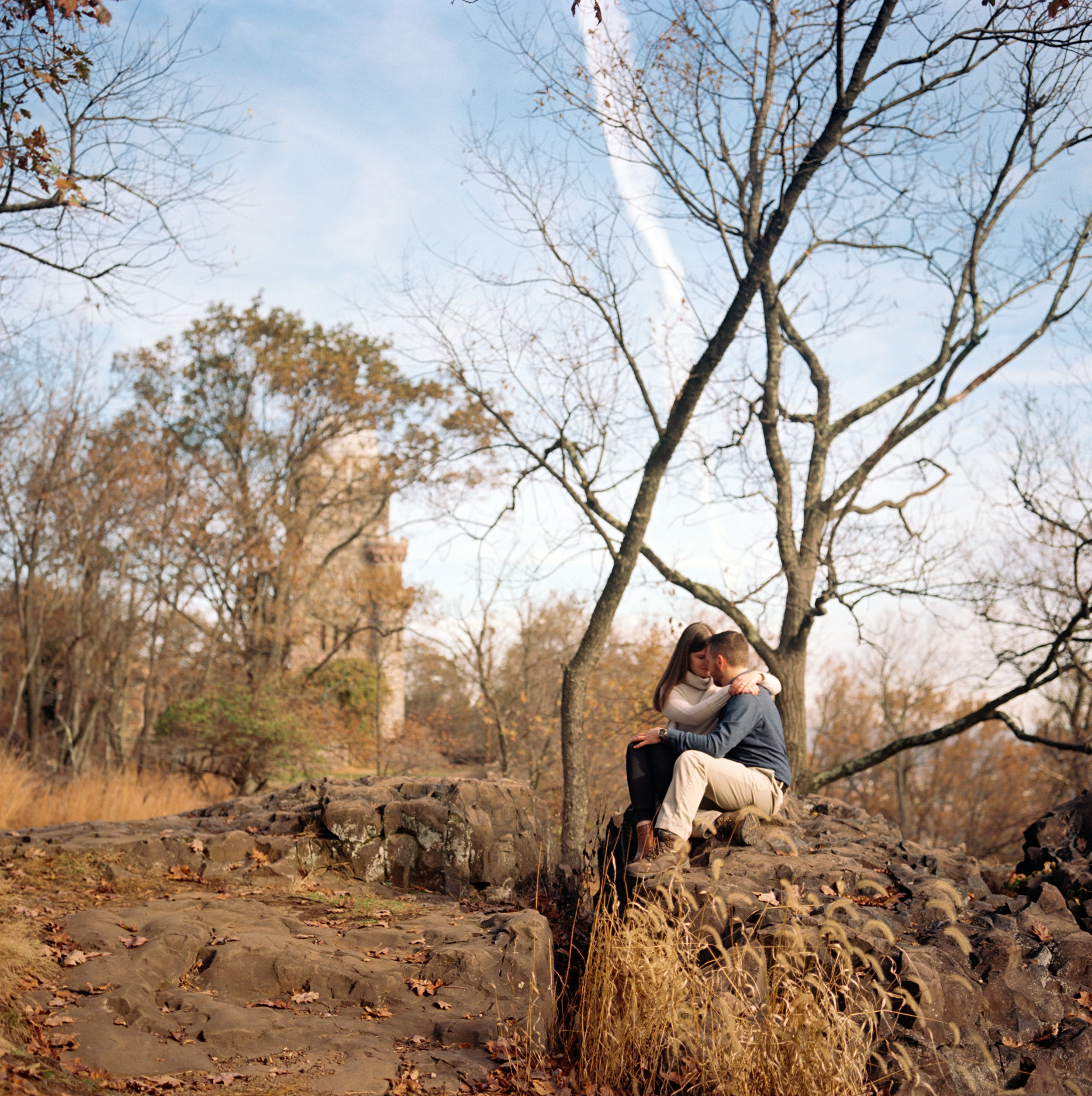Amy+Brian- Garret Mountain Engagement Session- Fall Nature- Film Photography-New Jersey- Olivia Christina Photo-7.JPG