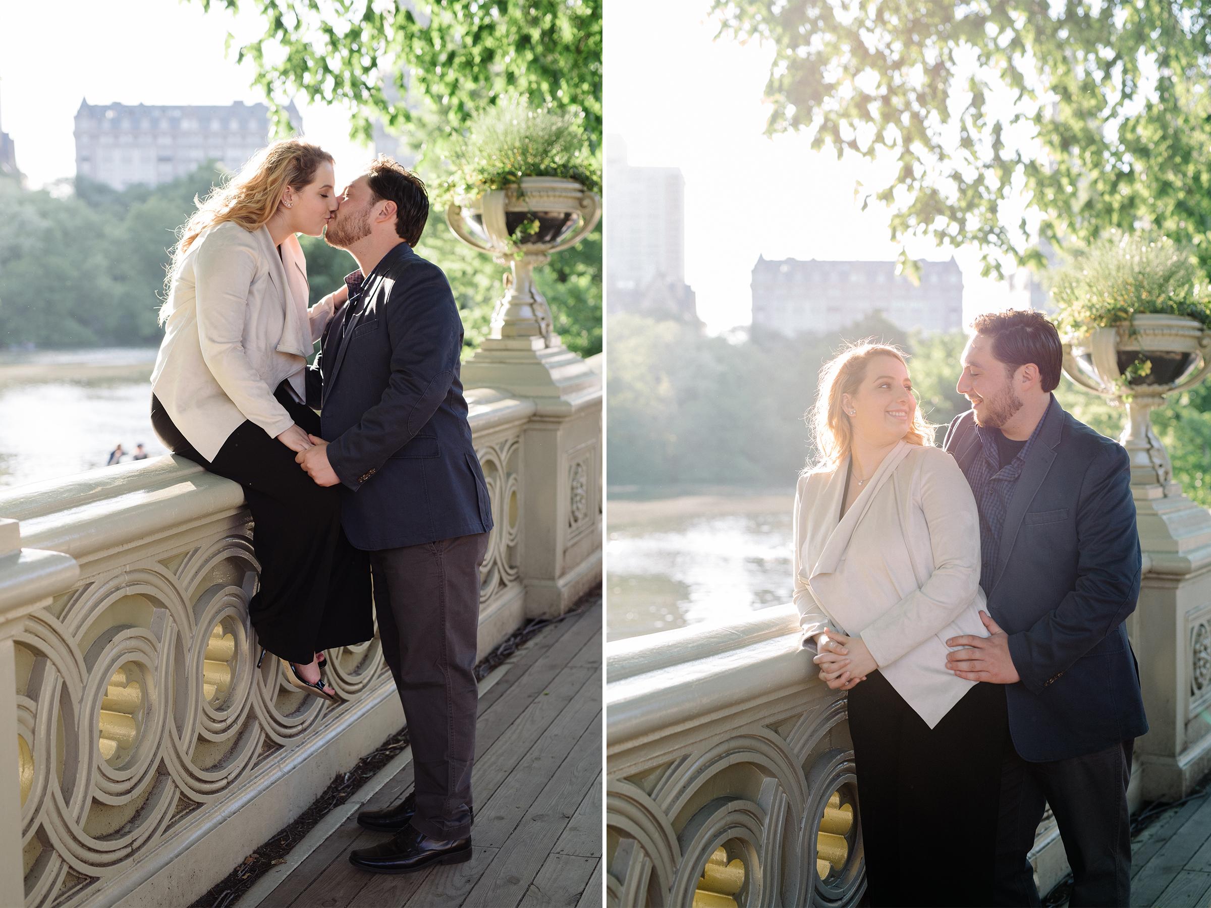 Cristina + CJ- Central Park Sunset Engagement Session- Bridge Photo- New York City- Olivia Christina Photo.jpg