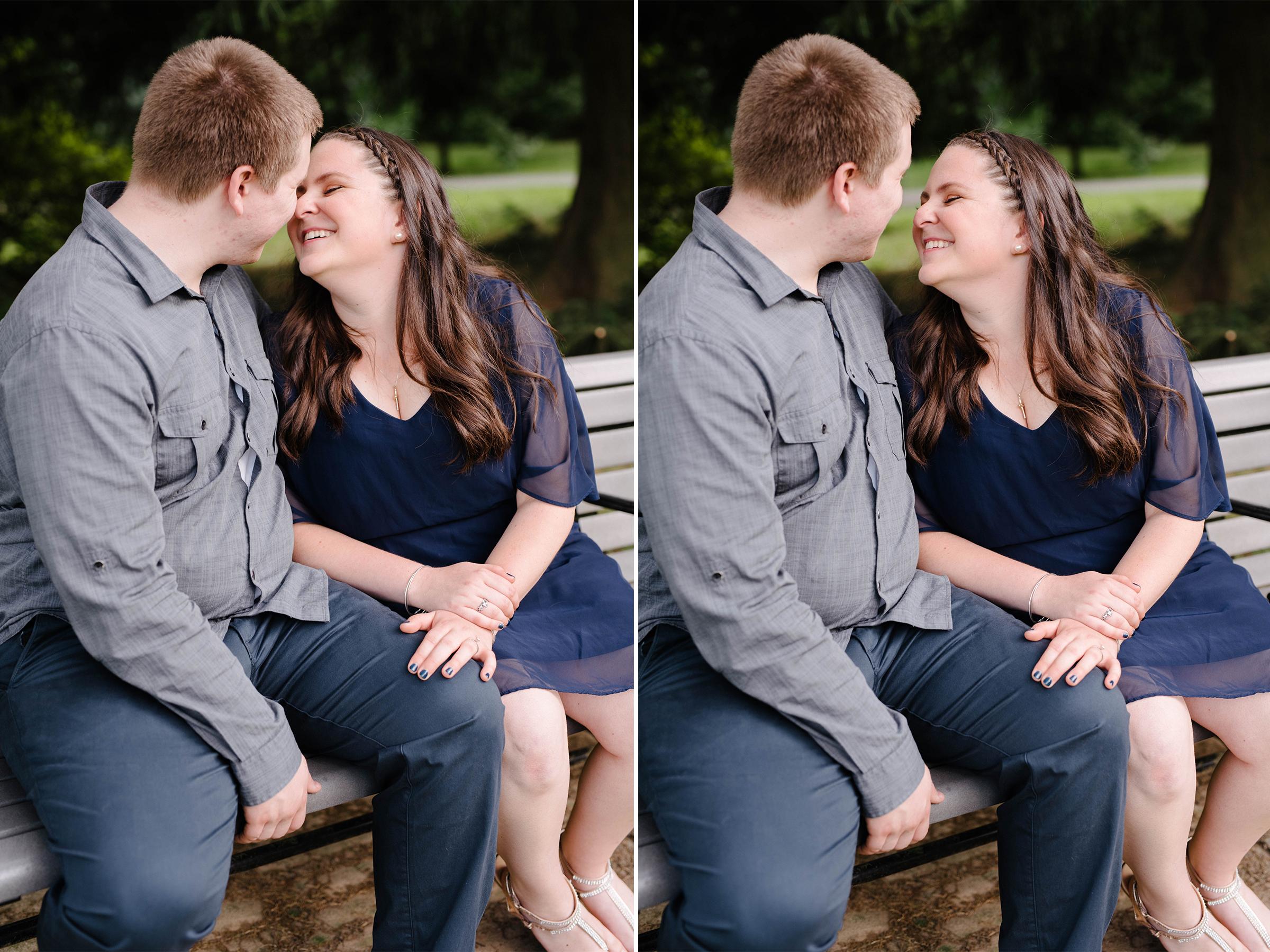 Brookdale Rose Garden- Engagement Photos- Garden Bench Ring Shot- Bloomfield New Jersey- Olivia Christina Photo.jpg