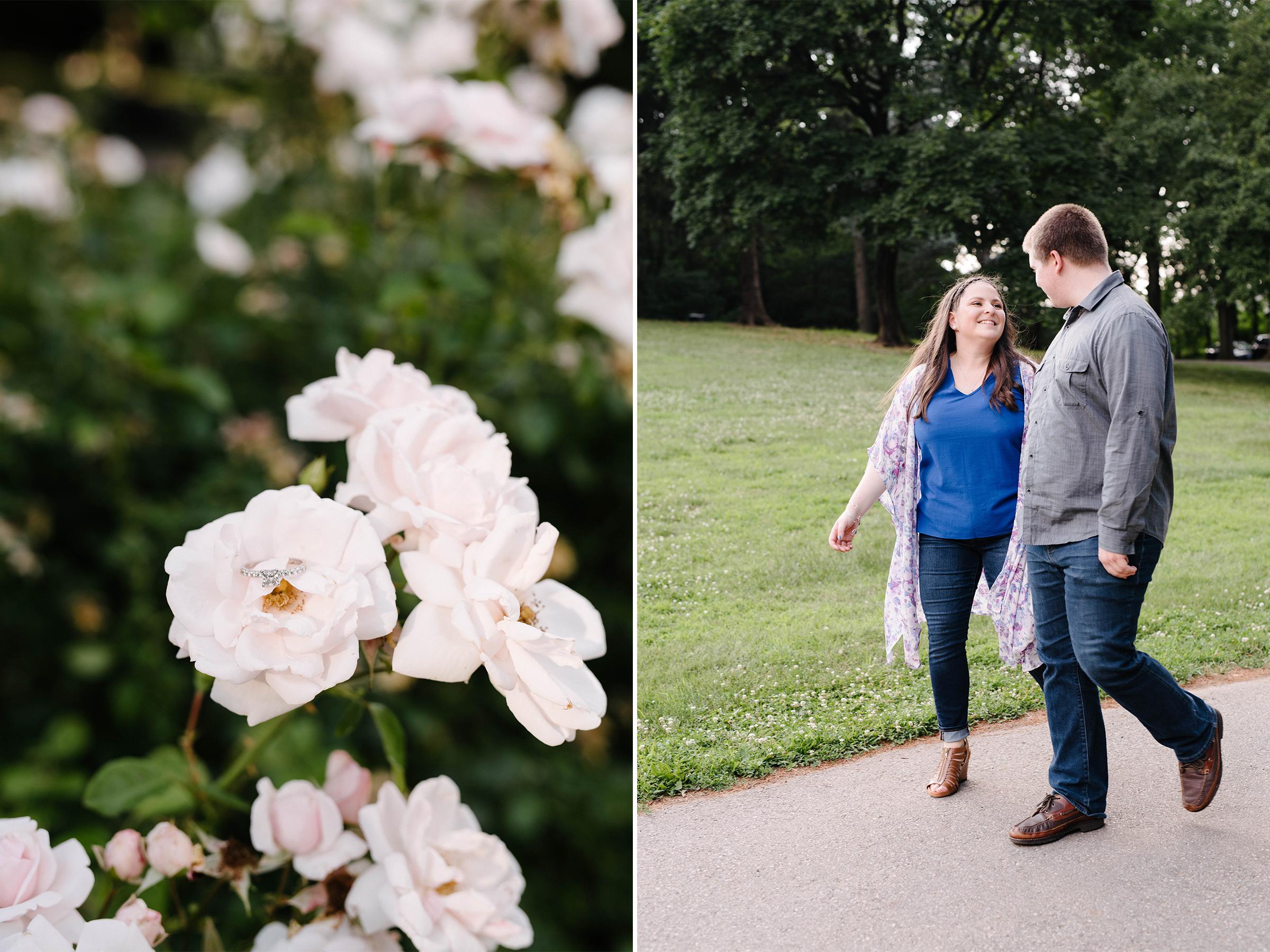 Brookdale Rose Garden- Engagement Photos- Engagement Ring- Bloomfield New Jersey- Olivia Christina Photo.jpg
