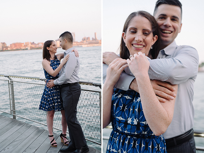 Hoboken Waterfront Engagement- NYC Skyline- Cait + Paul- New Jersey- Olivia Christina Photo.jpg