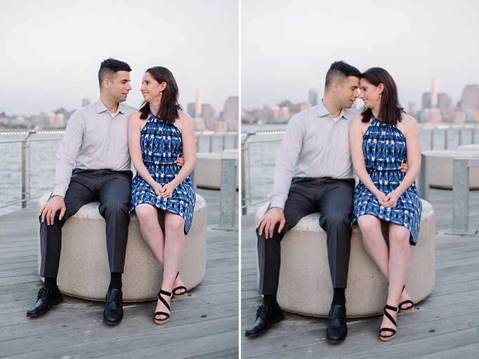 Hoboken Waterfront Engagement Session- NYC Skyline at Sunset- New Jersey- Cait + Paul- Olivia Christina Photo.jpg