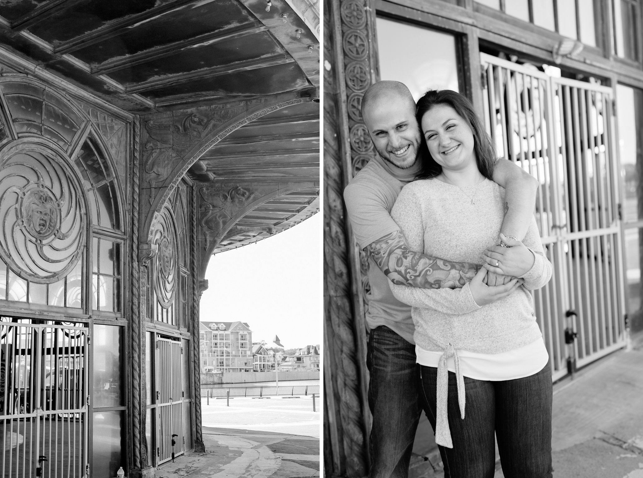 Asbury Park Carousel- Mallory + Brian- Asbury Park Engagement Session- New Jersey- Olivia Christina Photo.jpg
