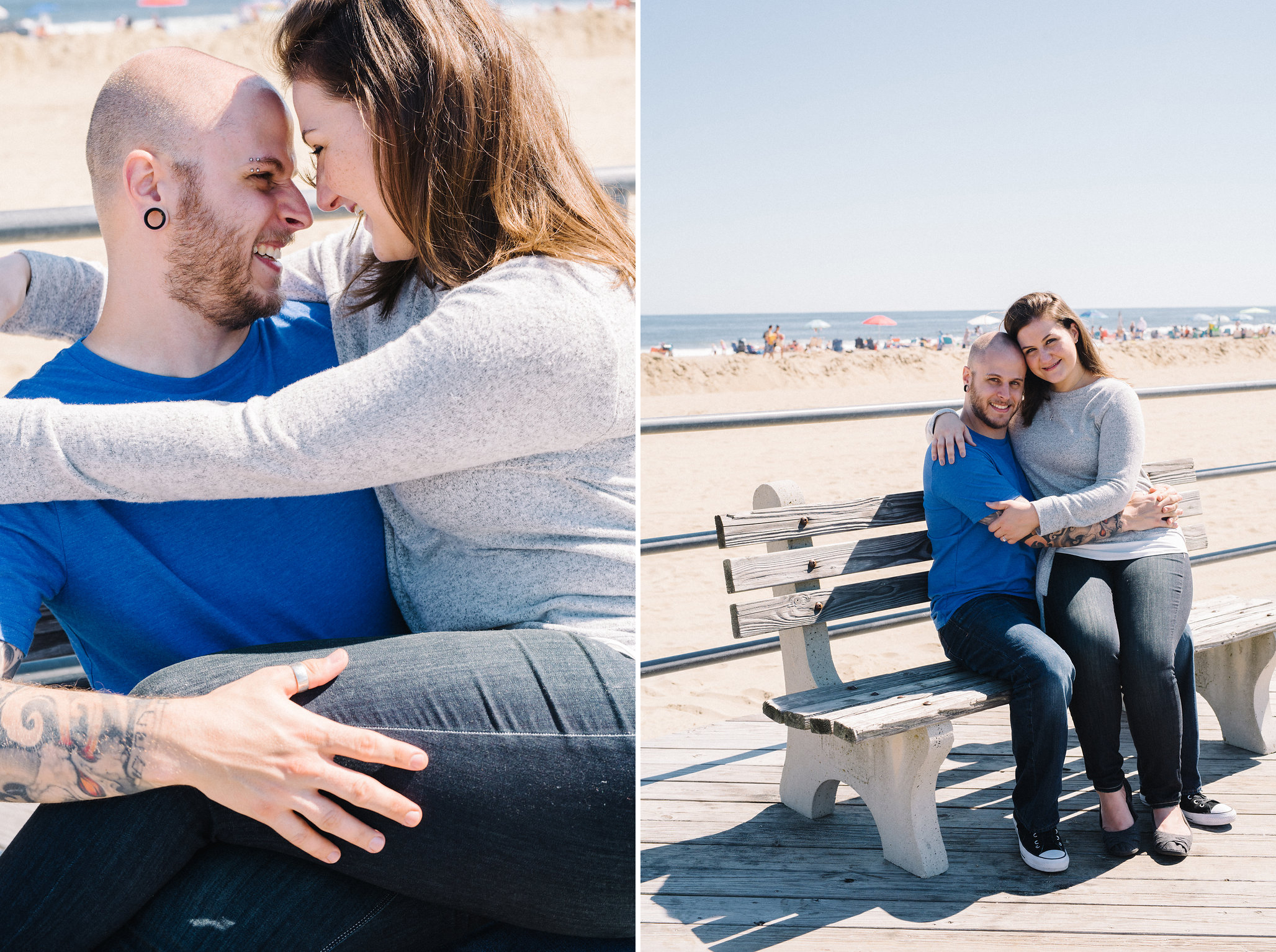 Asbury Park Boardwalk- Mallory+Brian Engagement Session- New Jersey- Olivia Christina Photo.jpg