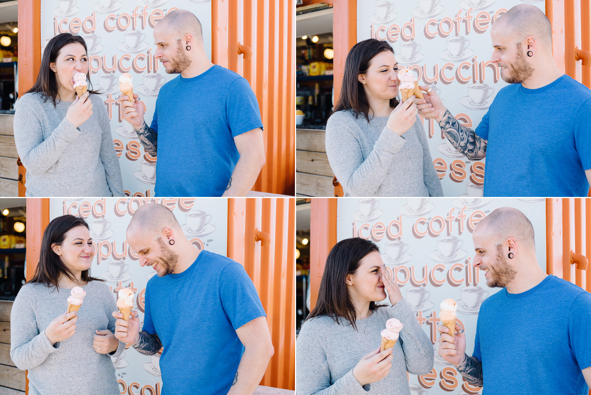 Ice Cream Cones- Mallory + Brian - Asbury Park Engagement Session- New Jersey- Olivia Christina Photo.jpg