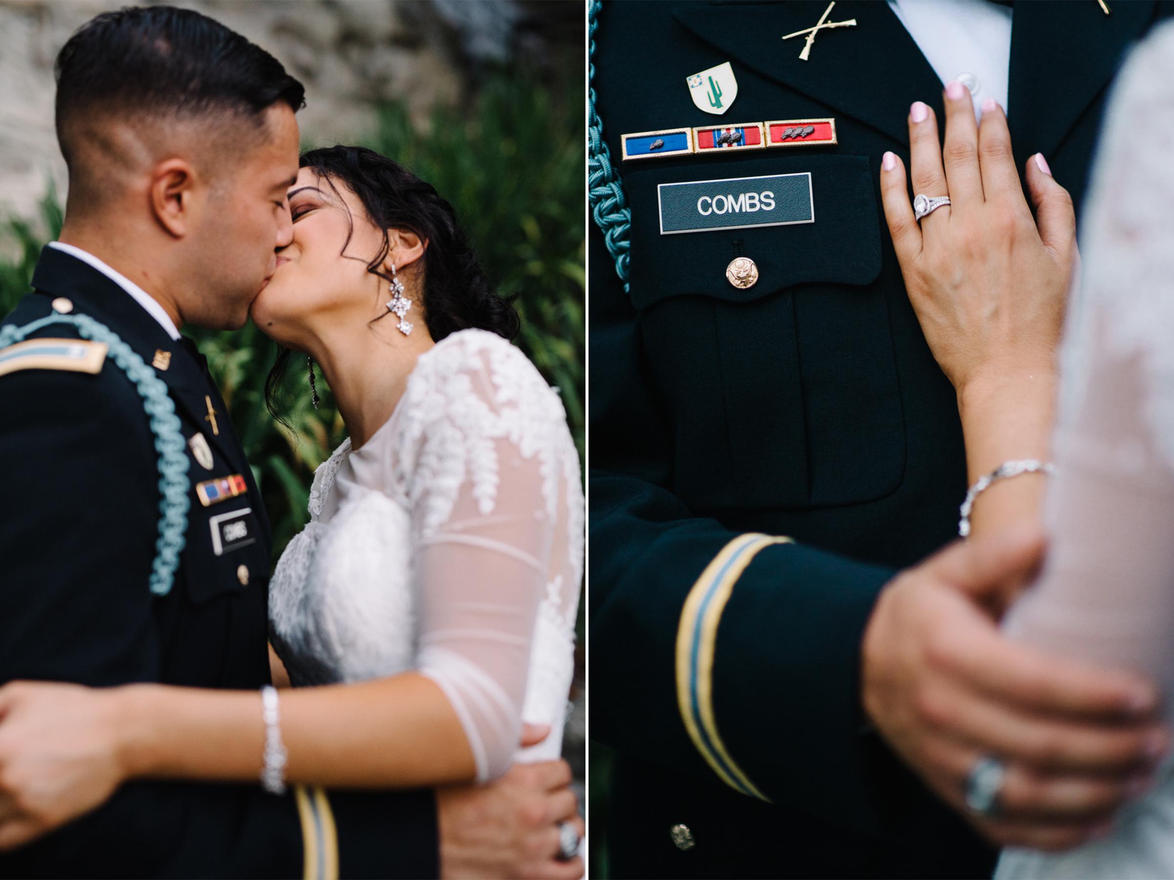 Military Wedding- West Point Army Academy-Bride and Groom Portrait-Army Jacket- Olivia Christina Photo.jpg