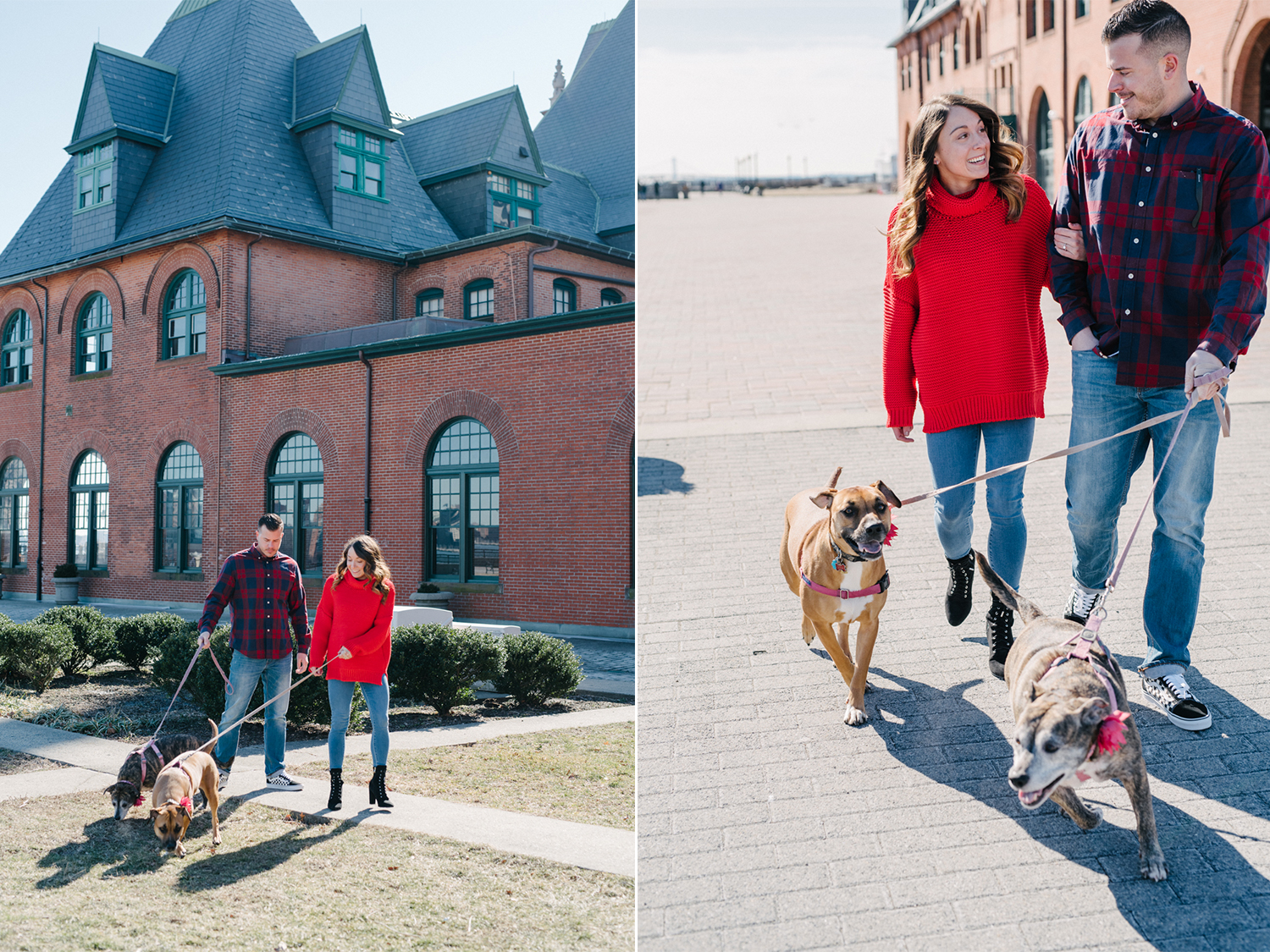 LSP Train Station- Jersey City Engagement- Dogs in Engagement Photos-Olivia Christina Photo.jpg