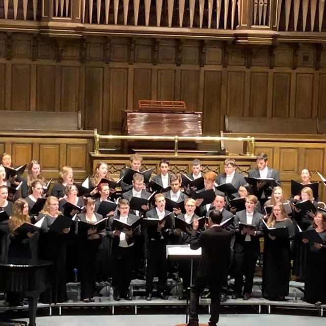 "Here are some moments from last week's World Premiere Series at the University of Scranton. Thank you Cheryl Boga and all of the wonderful students for an amazing weekend. The video is ""Take O Lord, Receive"" my setting of the Suscipe Prayer of St. Ignatius of Loyola, and the concert band piece was titled ""River Sông."" Thanks to Kathy Fallon for the first photo and @uyensophie_ for the video and other photos. #choir #choralmusic #conducting #concertband #composing #spiritual #stignatiusofloyola #scranton"