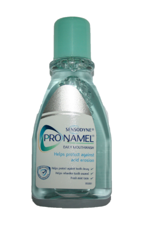 Pronamel mouthwash is formulated to help prevent the effects of acid erosion
