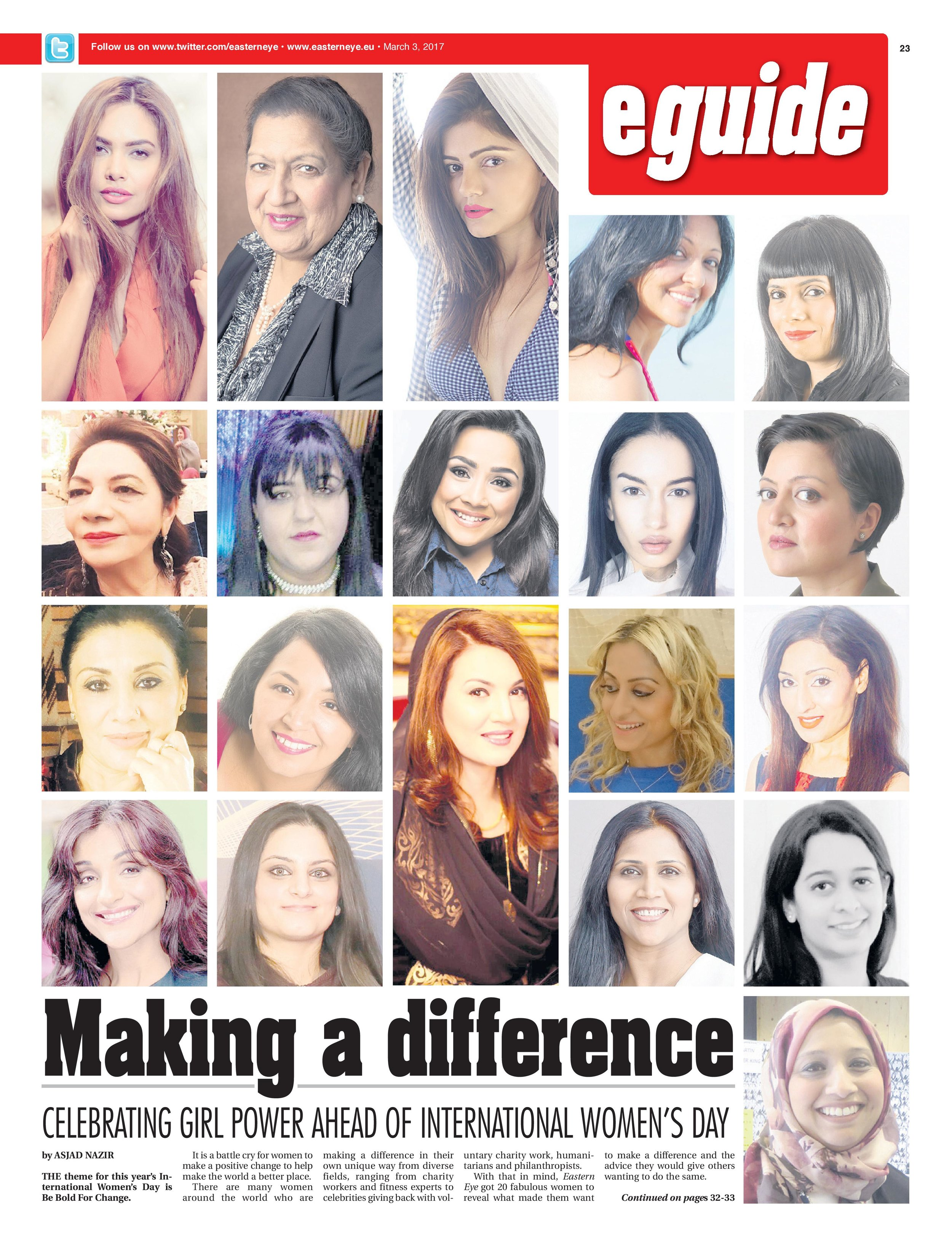 Featured as one of the UK's leading British Asian Influencers in Eastern Eye in March 2017