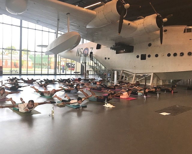 Royal Air Force - The first ever Yoga session at the RAF Aug 2019